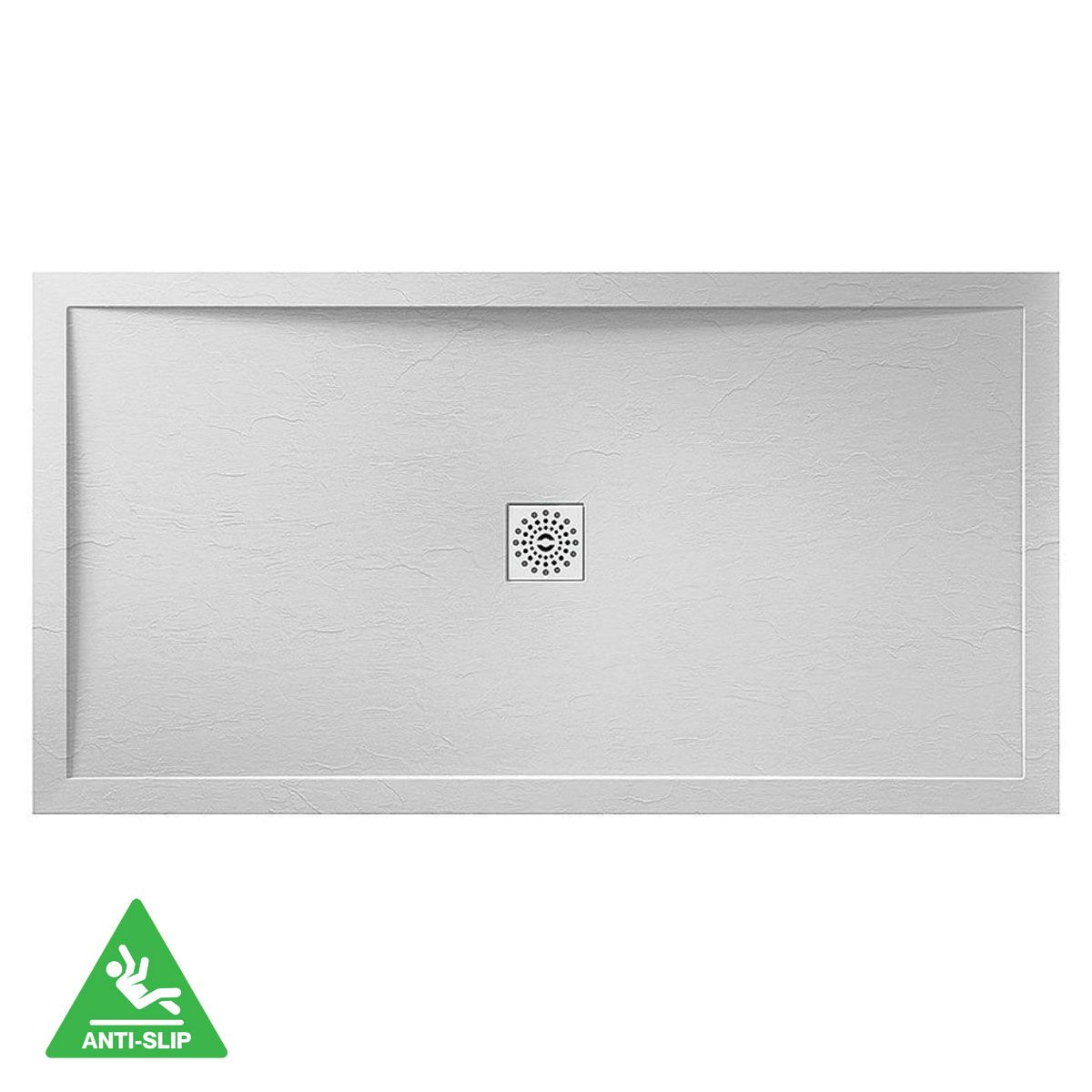 April White Slate Shower Tray 1700 x 760