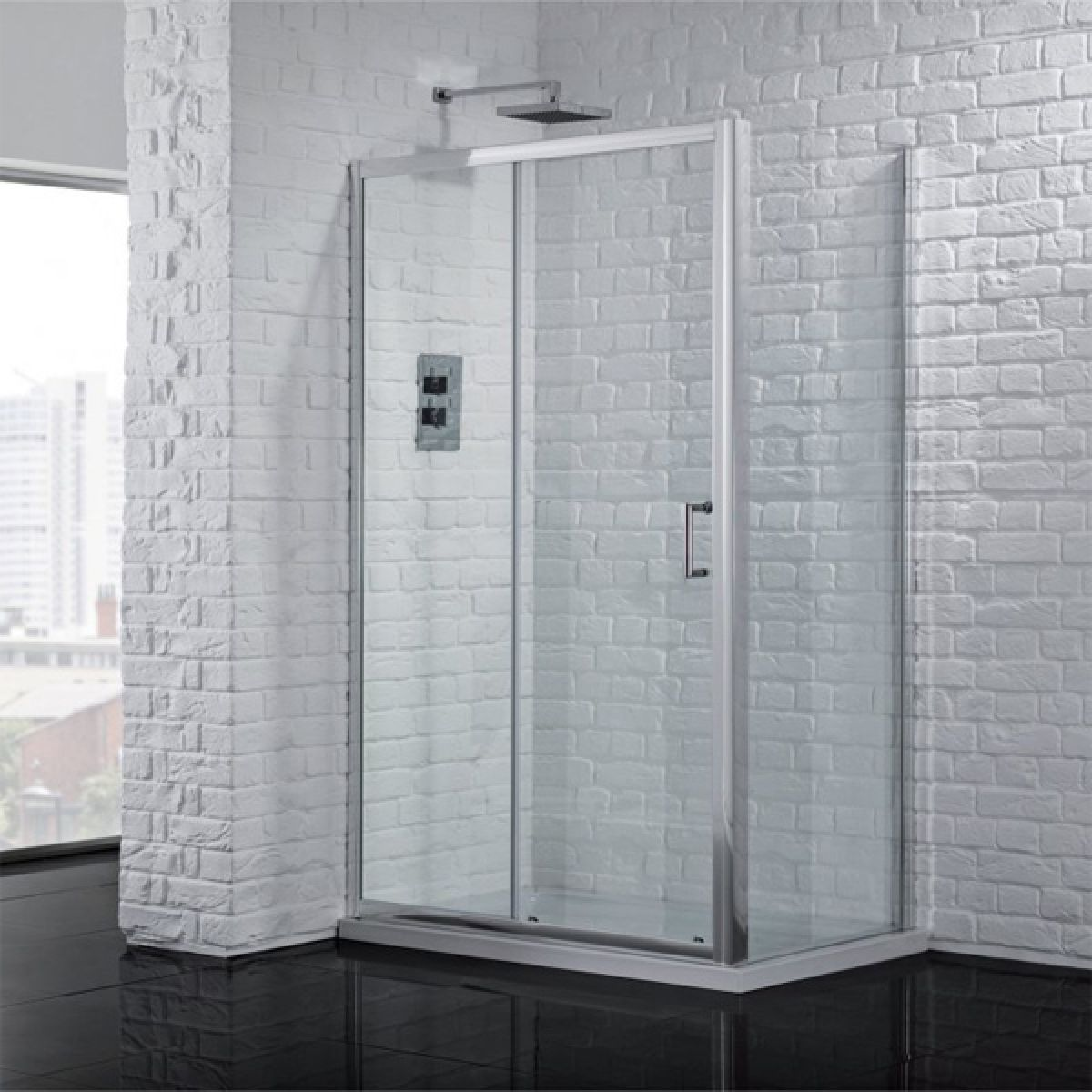 Aquadart Venturi 6 Sliding Shower Door with Optional Side Panel