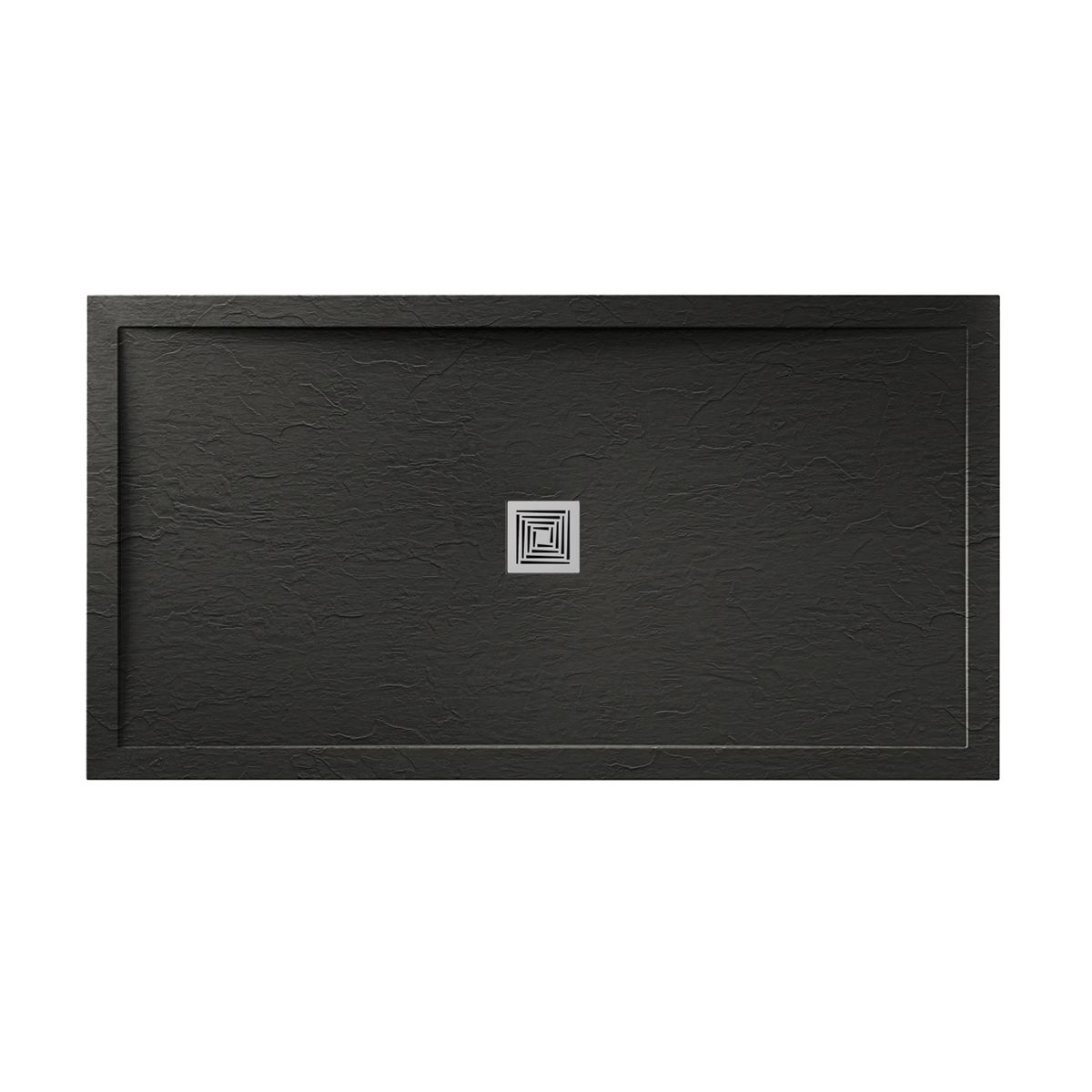 Aquadart Black Slate Shower Tray 1600 x 900