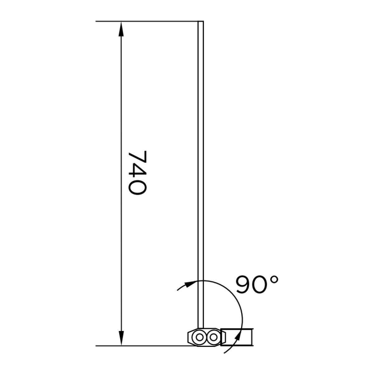 Aquadart Venturi 6 Single Bath Shower Screen Dimensions
