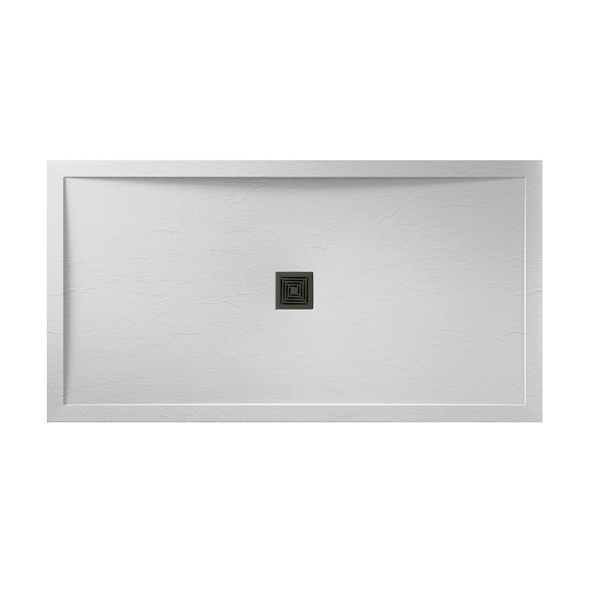 Aquadart White Slate Shower Tray 1200 x 800