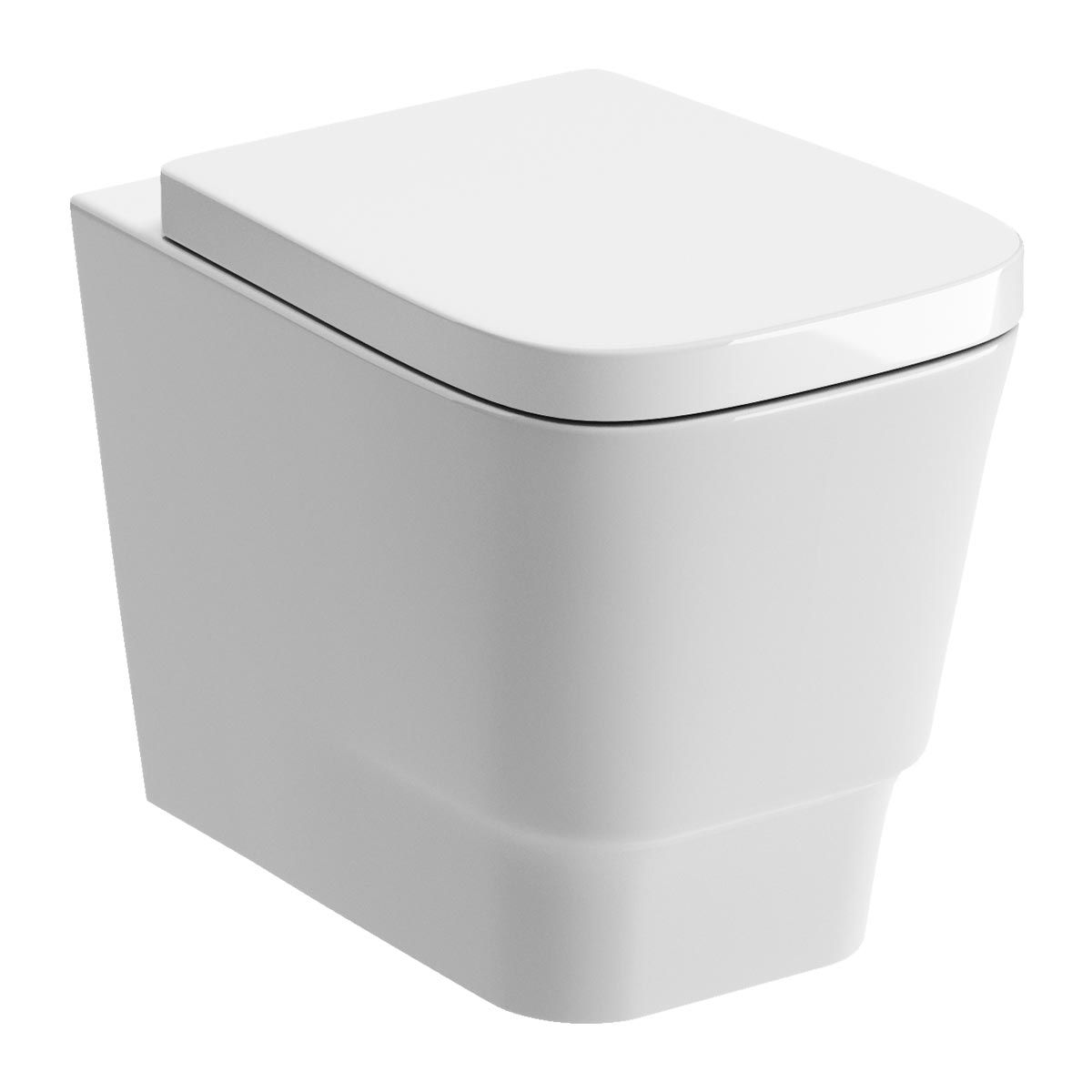 BTL Amyris White Wall Hung Toilet & Soft Close Seat