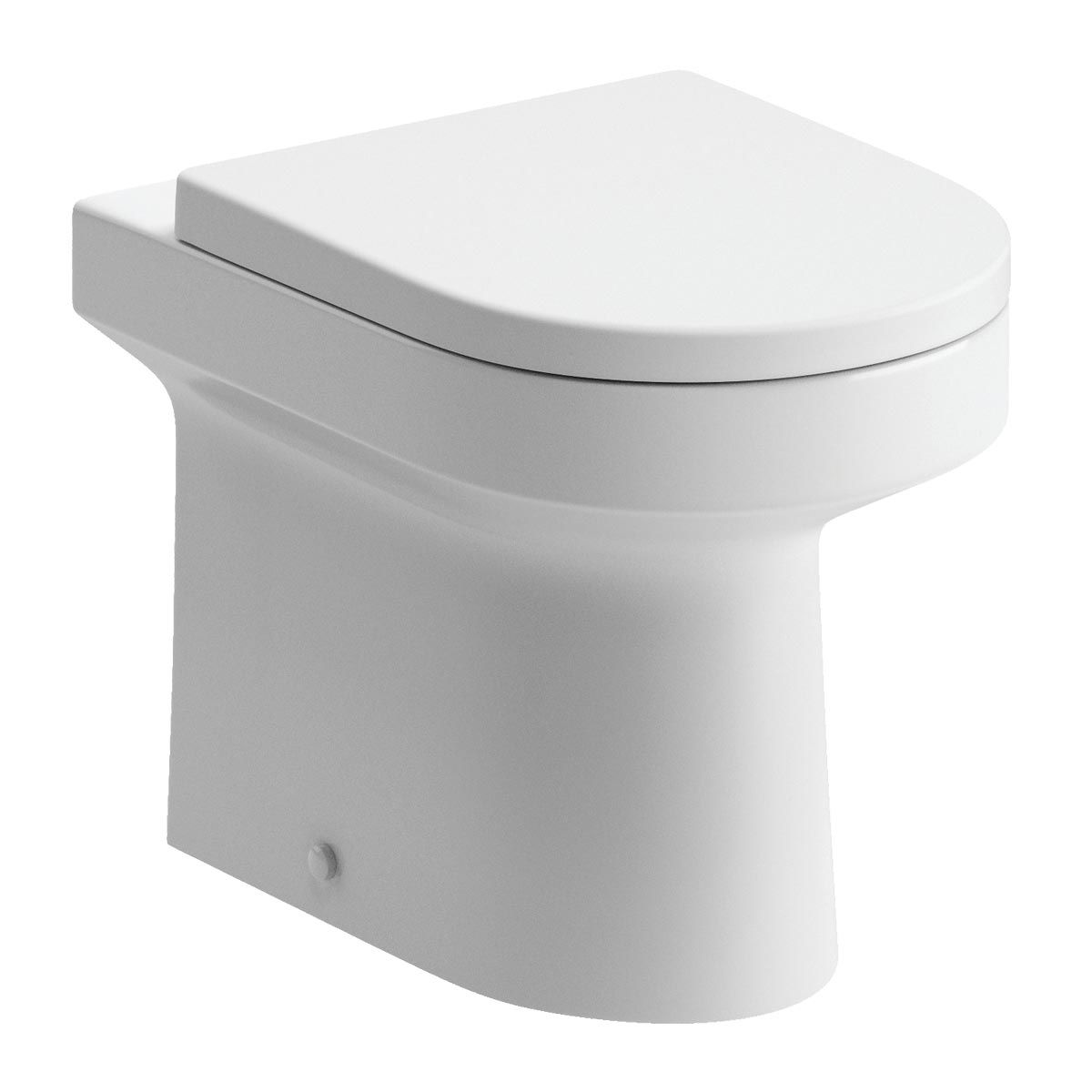 BTL White Laurus² Back To Wall Toilet with Soft Close Seat