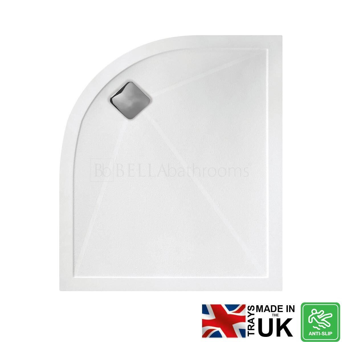 Bathrooms To Love Left Hand Offset Quadrant Anti-Slip Shower Tray with Waste 1200mm x 900mm
