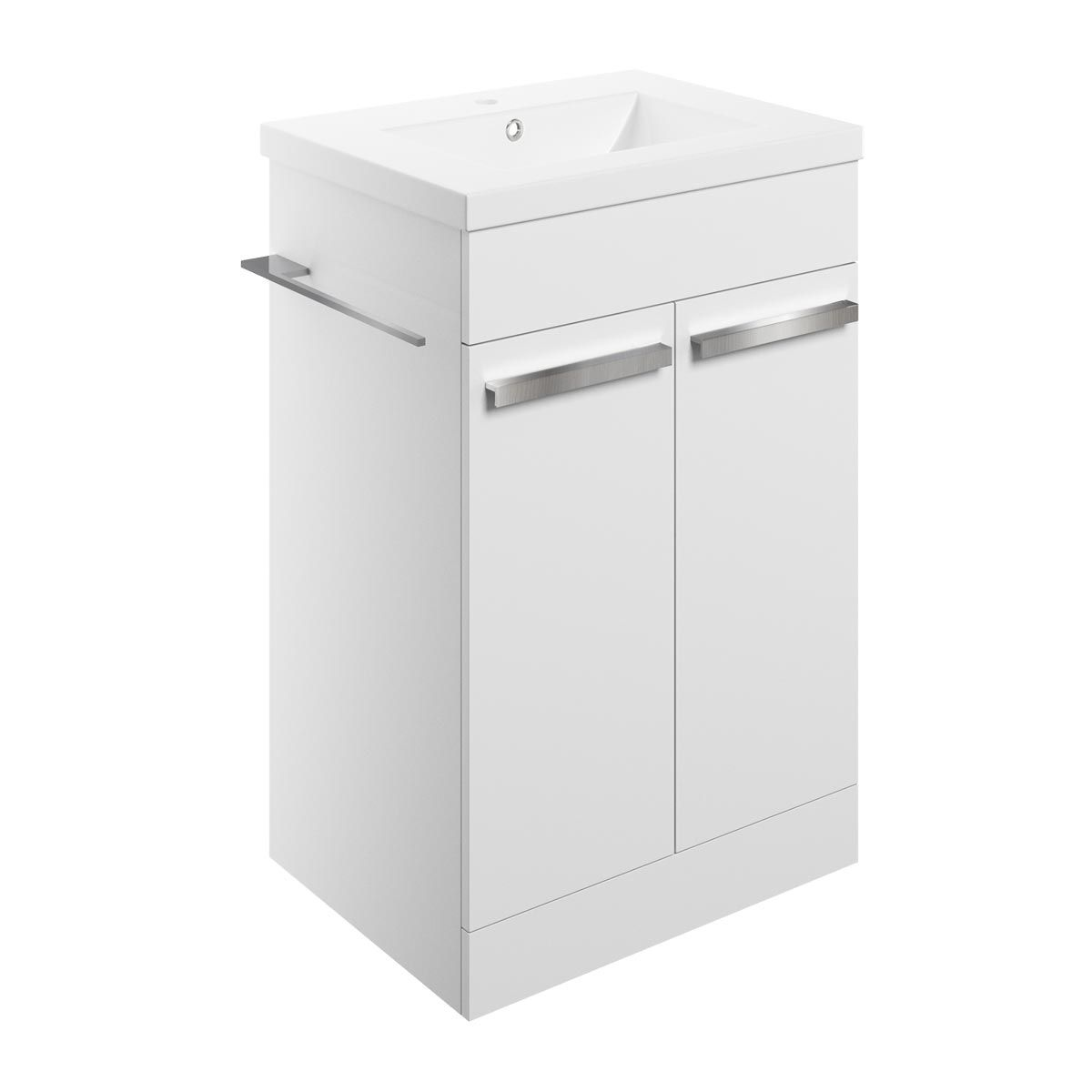 BTL Morina White Gloss Floor Vanity Unit with Basin 615mm