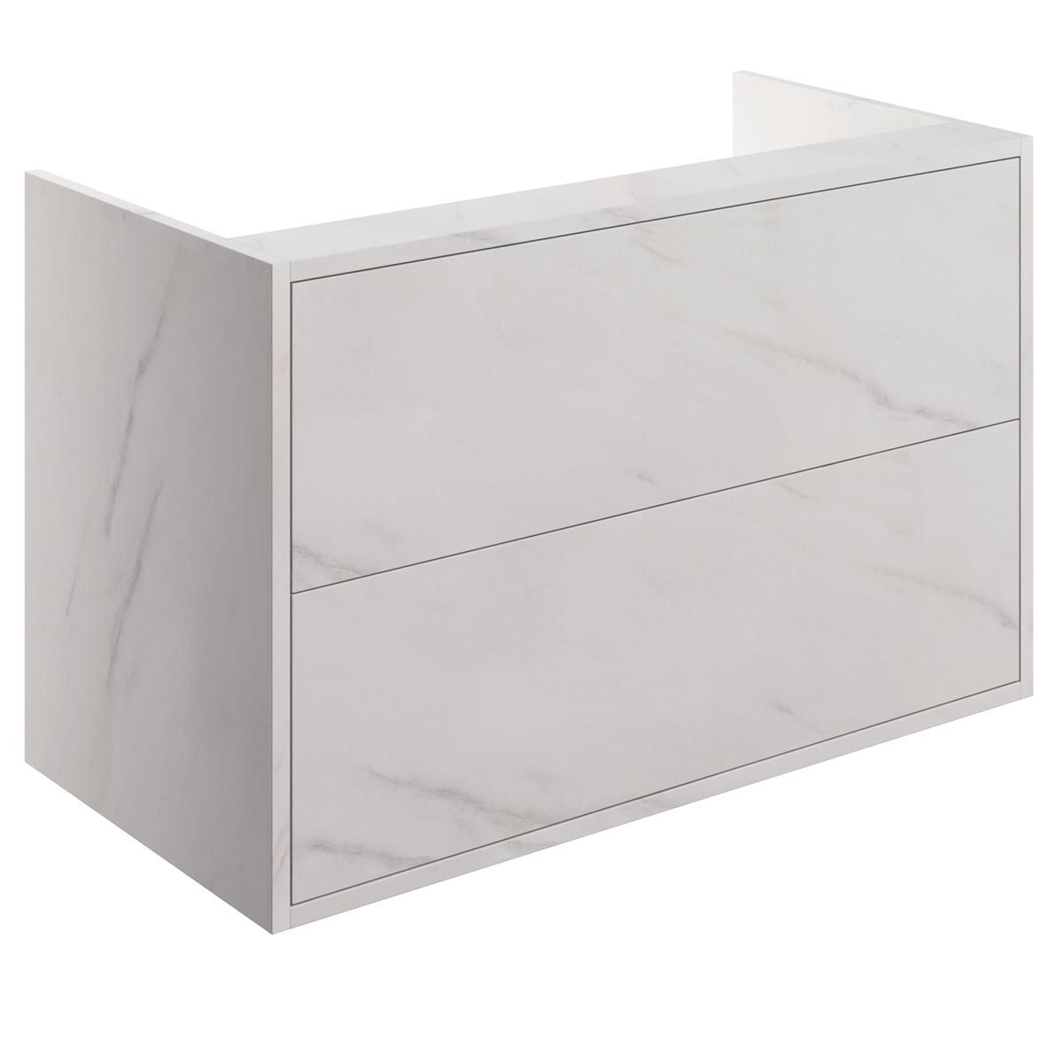 BTL Perla Marble 2 Drawer Vanity Unit 900mm