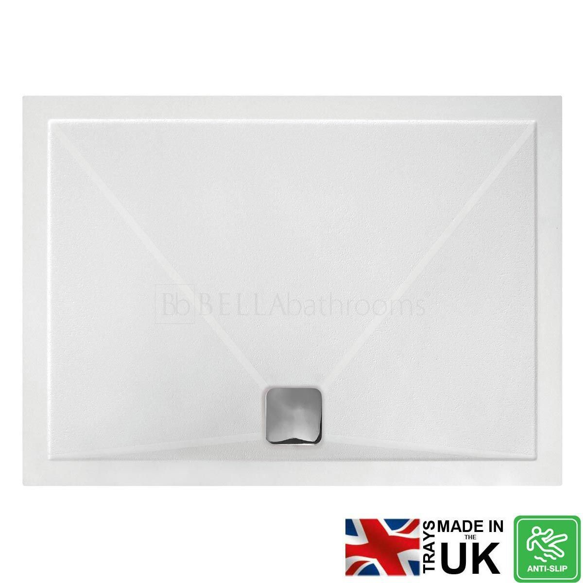 Bathrooms To Love Rectangular Anti-Slip Shower Tray with Waste 1000 x 800