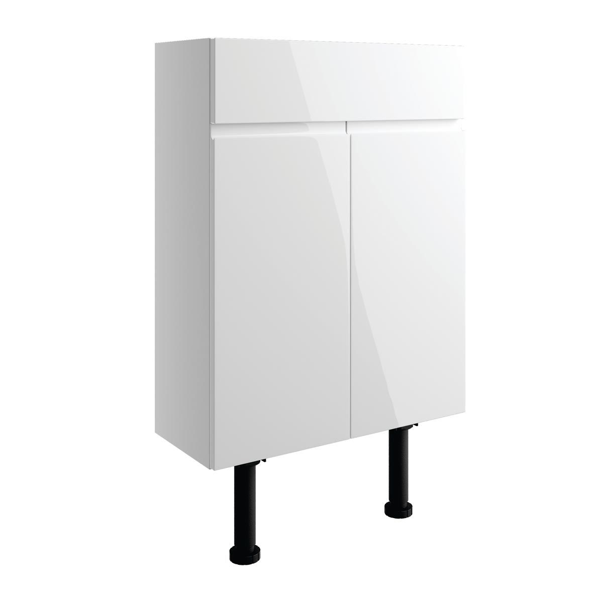 BTL Valesso White Gloss Basin Unit 500mm