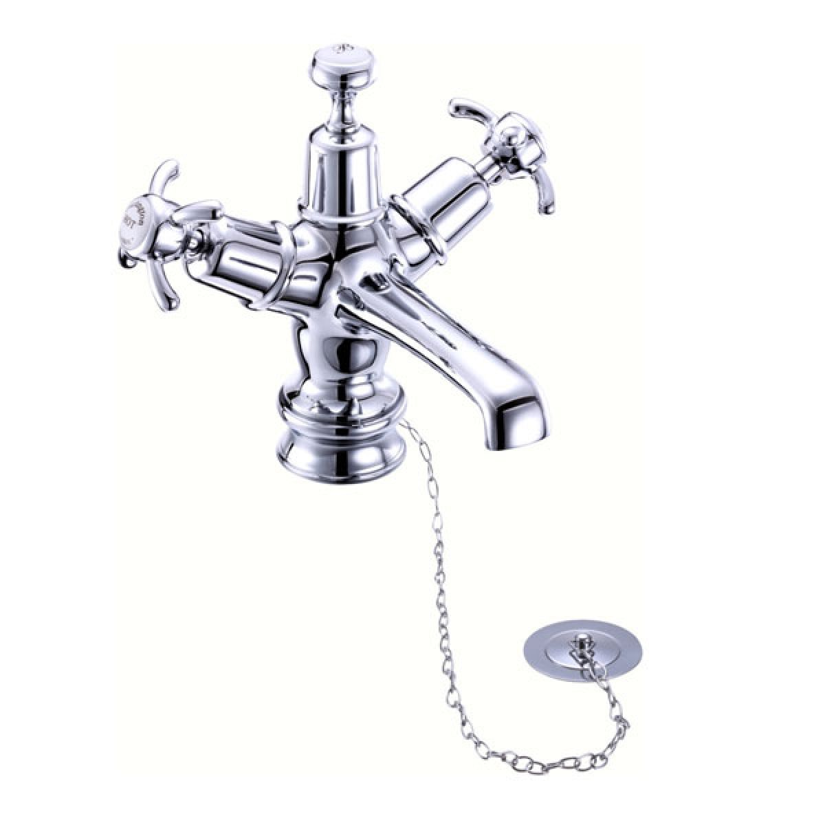 Burlington Anglesey Regent Basin Mixer with Plug and Chain Waste