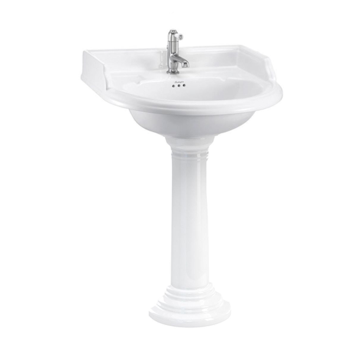 Burlington Classic Round Basin with Regal Pedestal 650mm