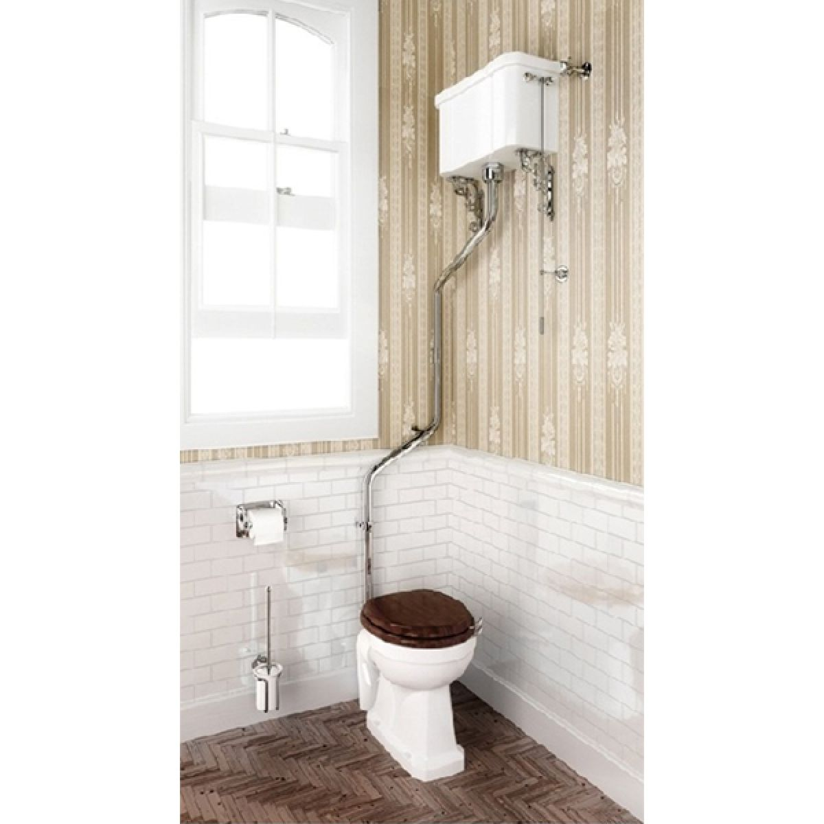 Burlington High Level Toilet with High Level Cistern