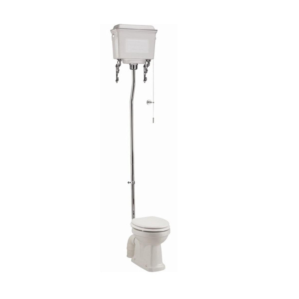 Burlington High Level Toilet with White Aluminium Cistern