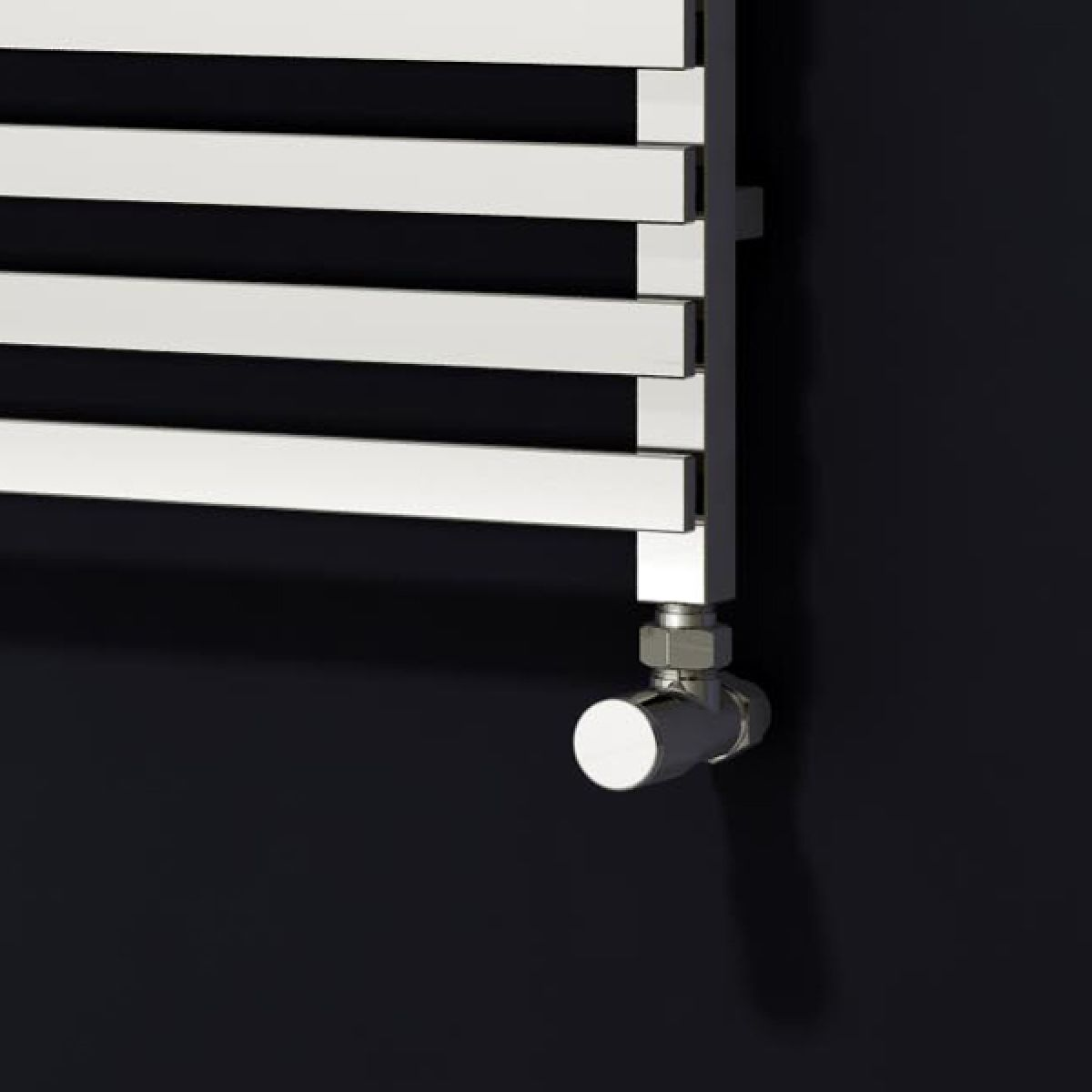 Carina Designer Chrome Electric Towel Rail 1200 x 500mm Detail