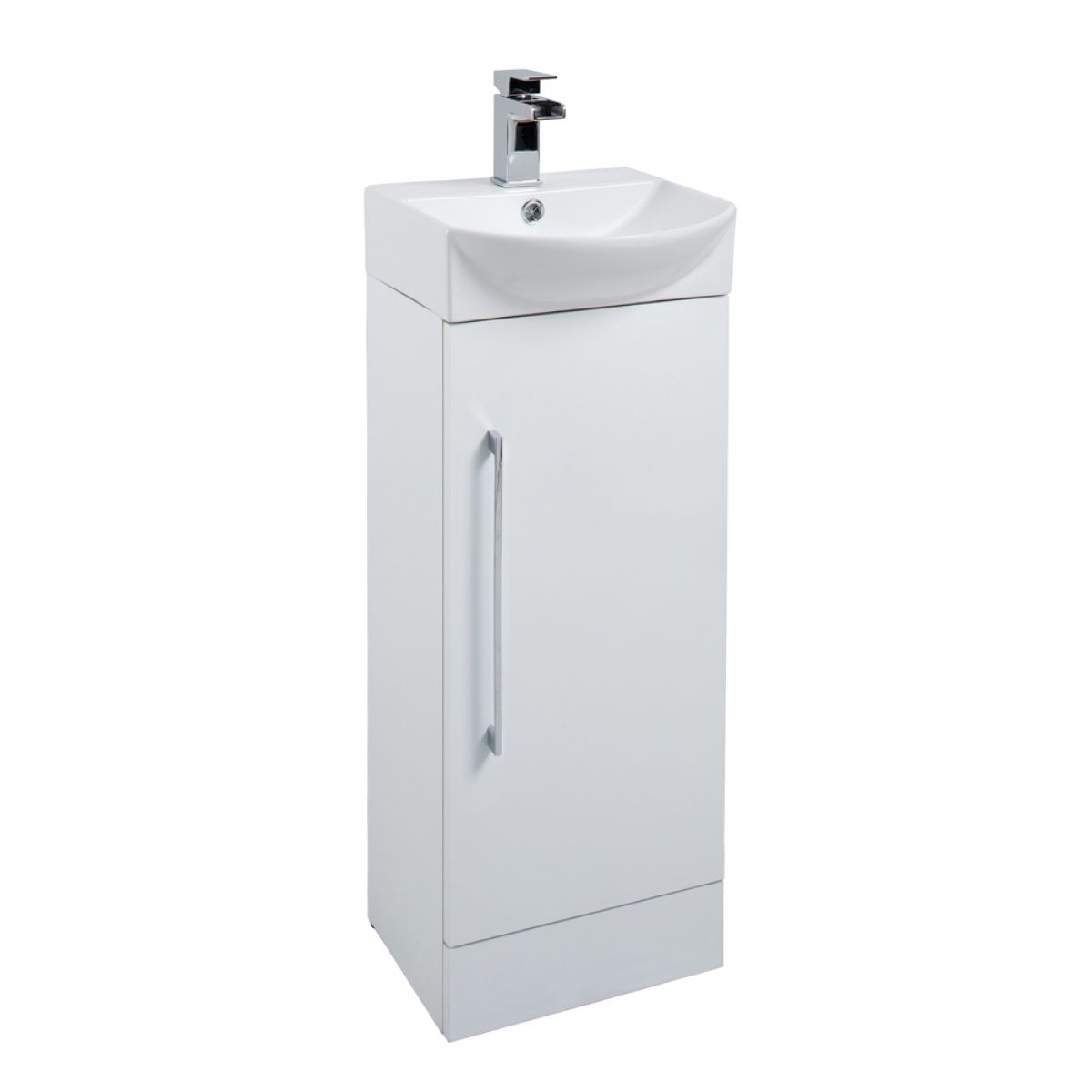 Cassellie ITE White Single Door Cube Basin Unit