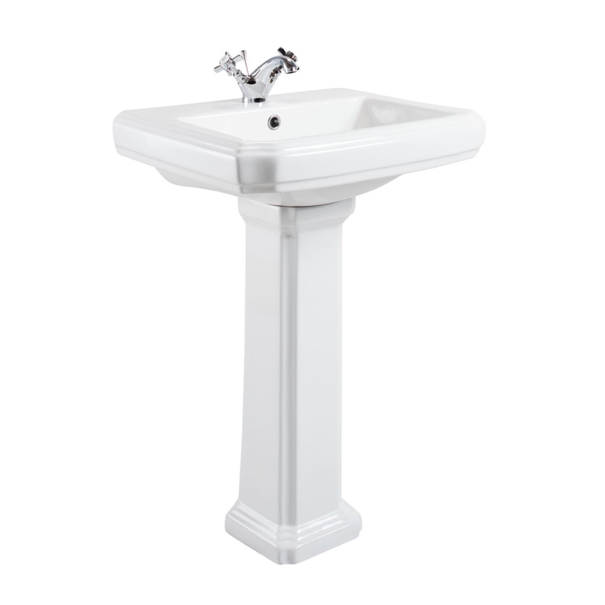 Cassellie Cromford 1 Tap Hole Basin and Pedestal