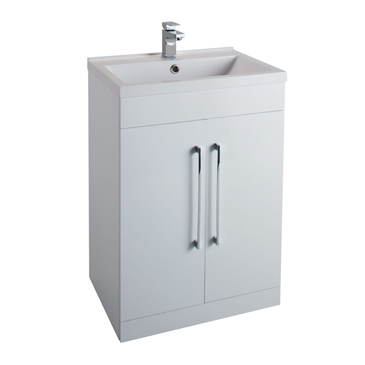 Cassellie Idon Gloss White Vanity Unit with Basin 600mm