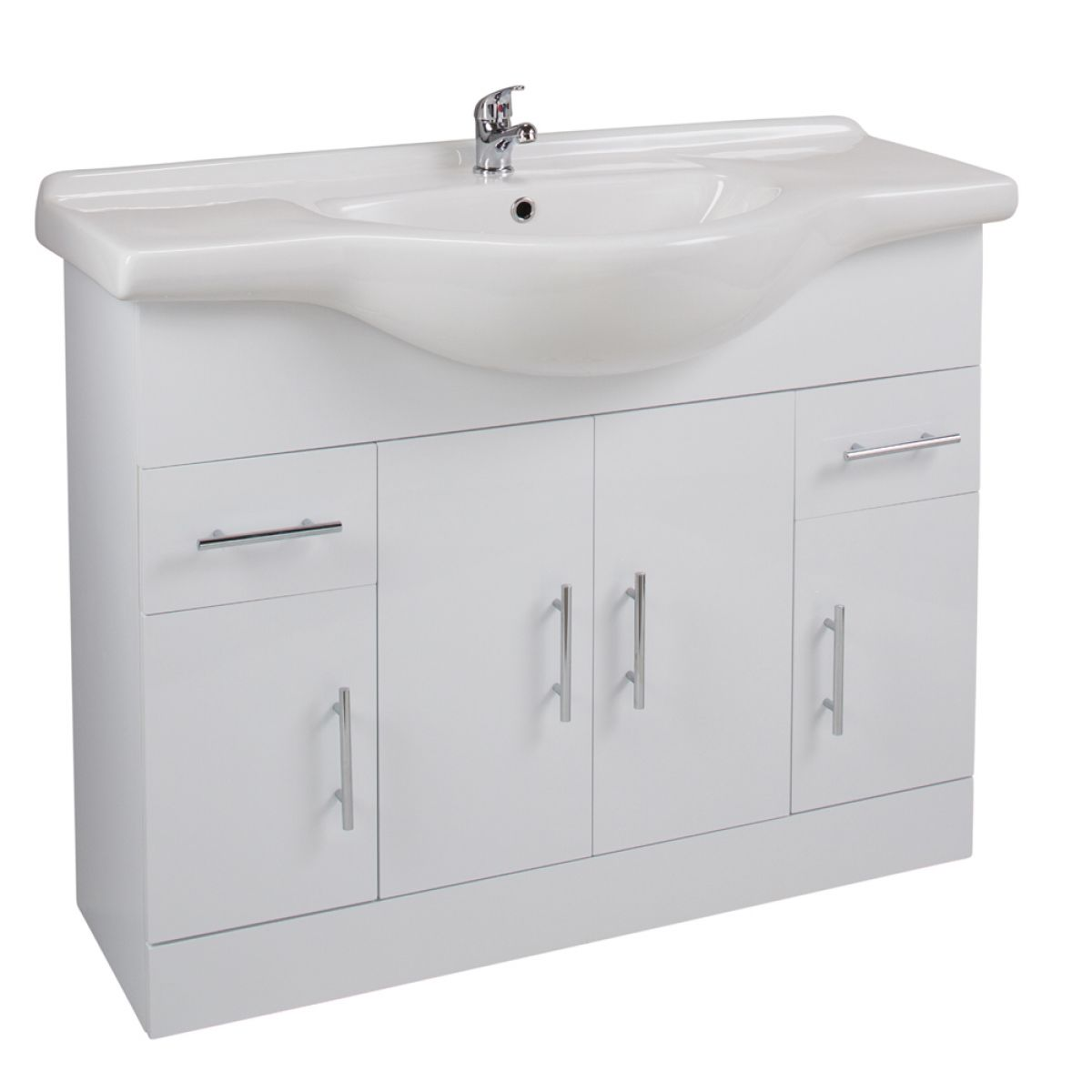 Cassellie Kass Gloss White Basin Unit 1050mm