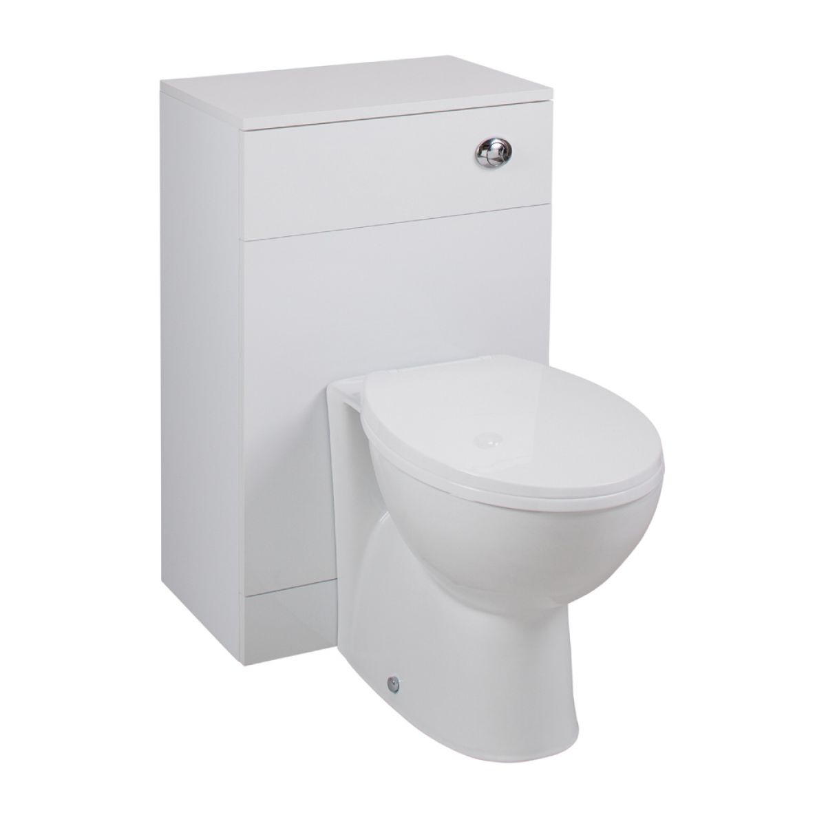 Cassellie Kass Gloss White Space Saving WC Unit Churwell Set