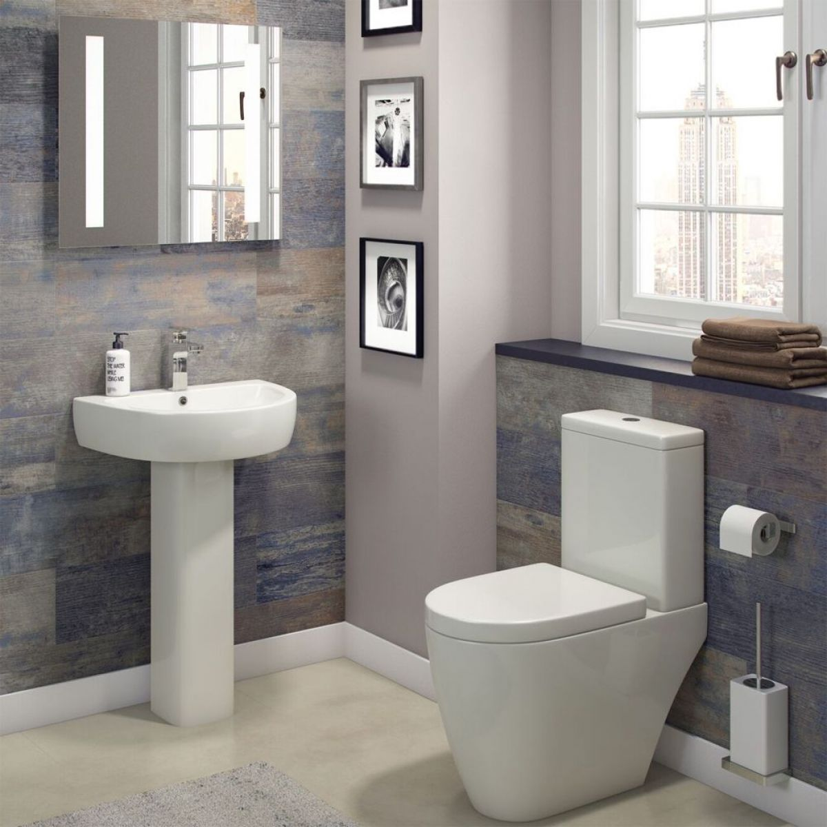 Cassellie Loxley Toilet and Basin Set