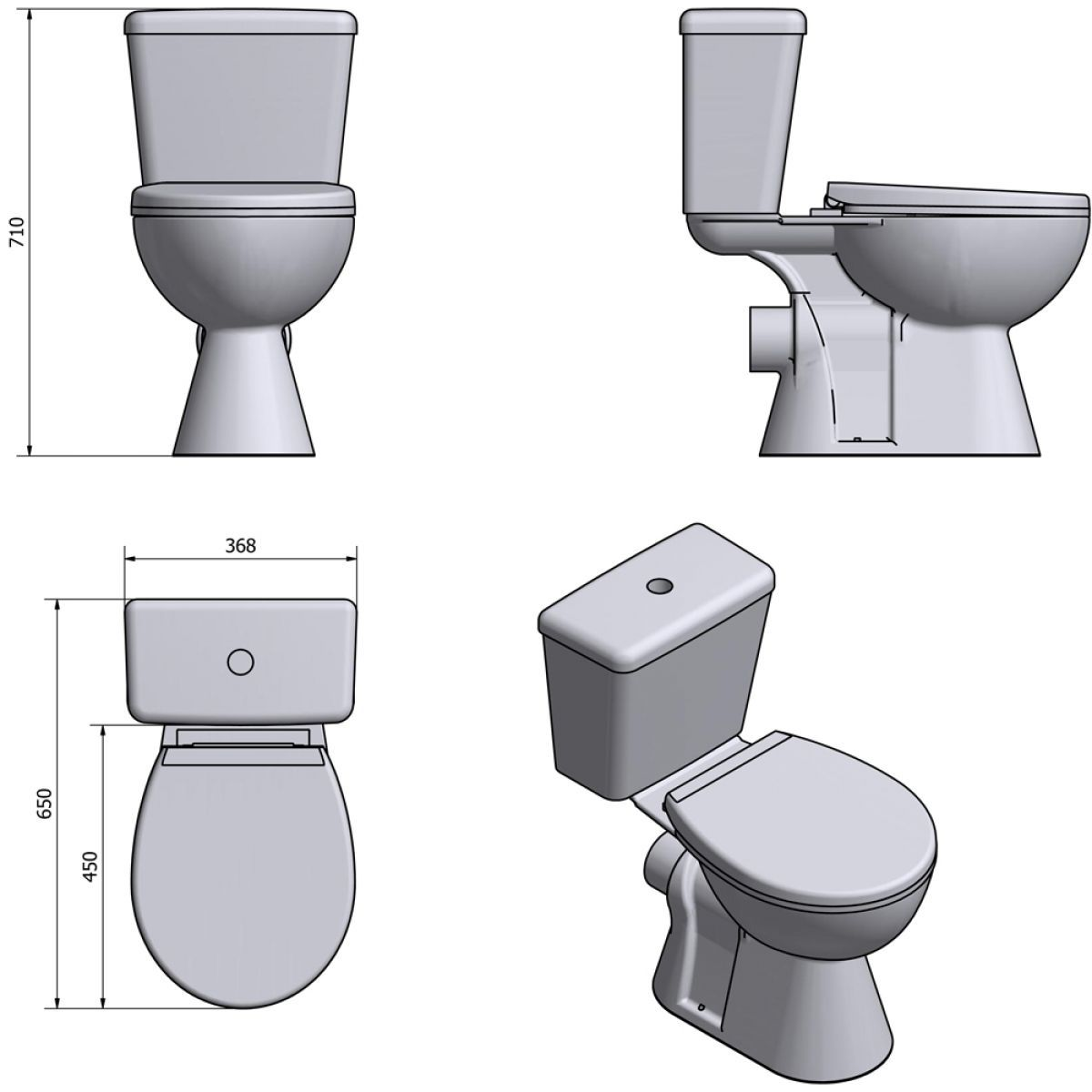 Cassellie Unison Close Coupled Toilet