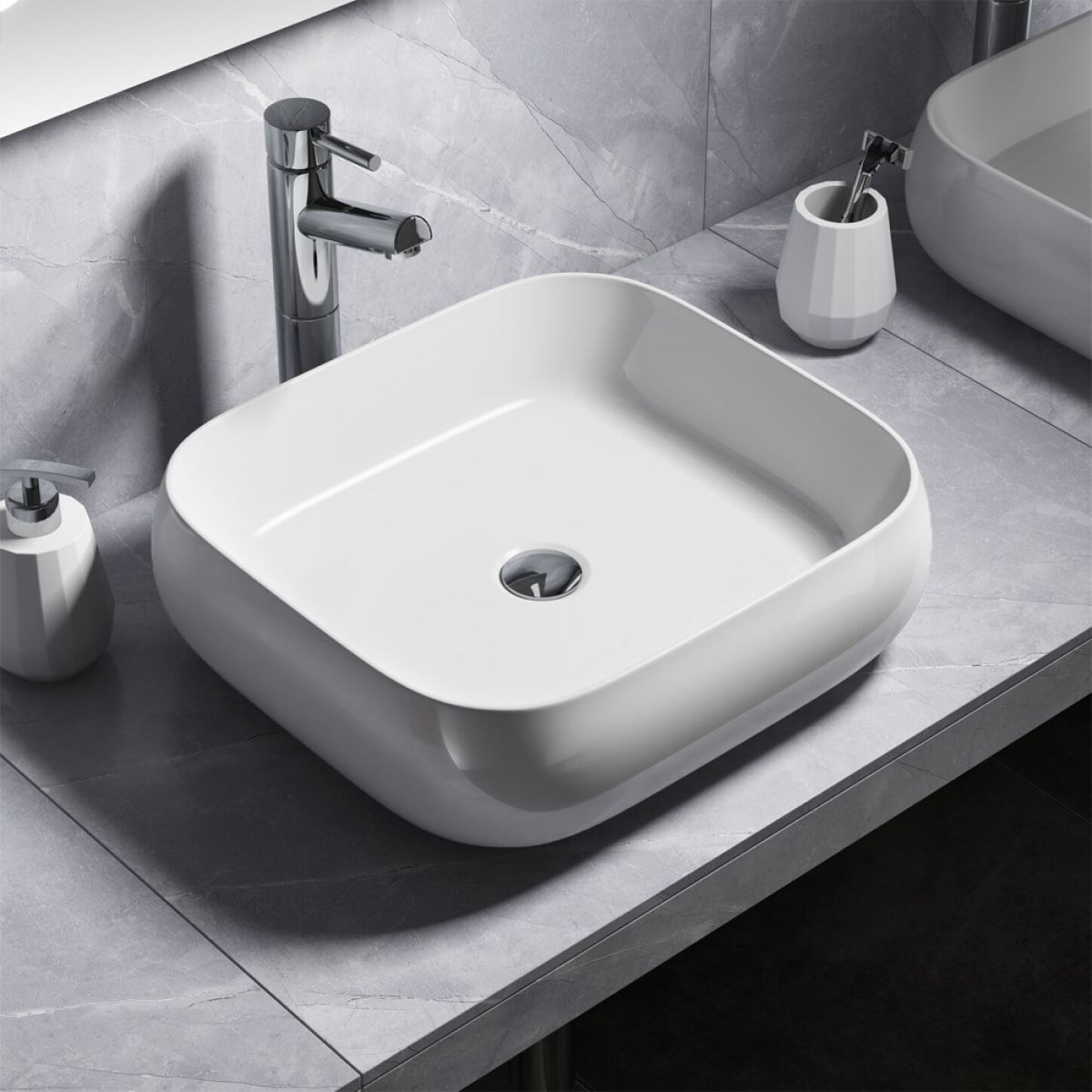 Manhattan Rounded Countertop Basin 450mm