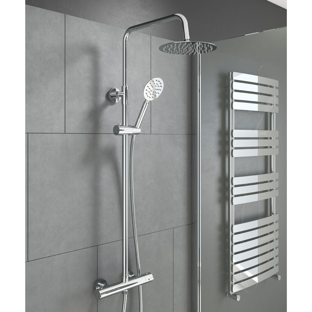 Cassellie Videira Thermostatic Shower Kit Lifestyle