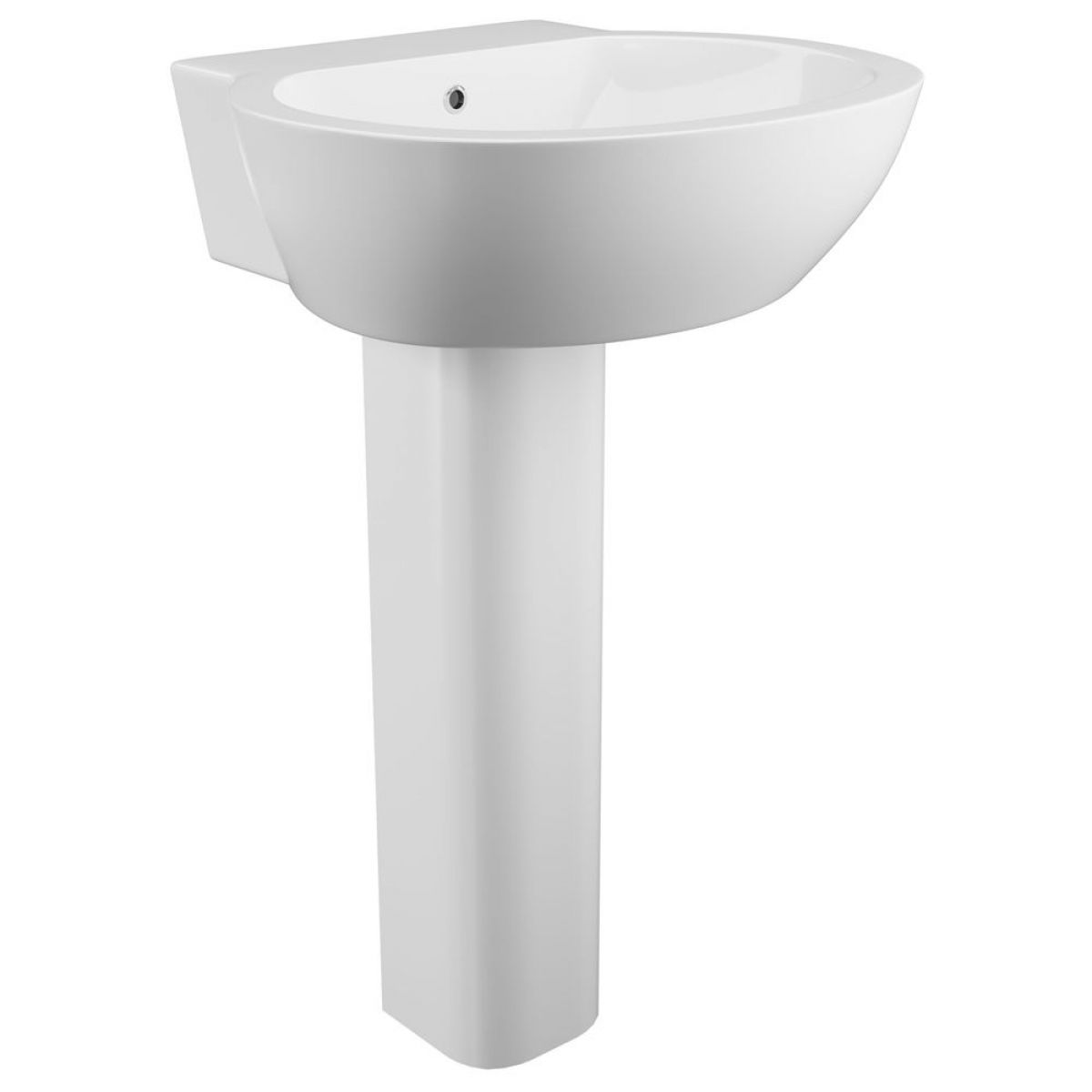 Cassellie Wharfe 1 Tap Hole Basin with Full Pedestal