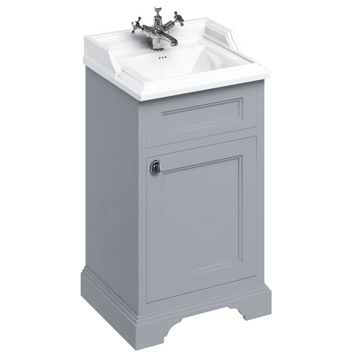Burlington Classic Grey Freestanding Vanity Unit
