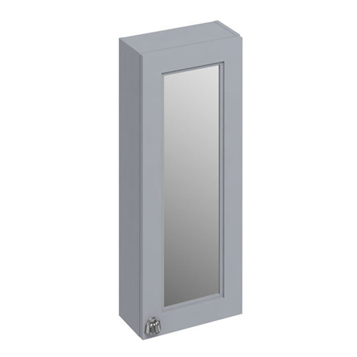 Burlington Classic Grey Single Door Mirror Wall Unit 300mm