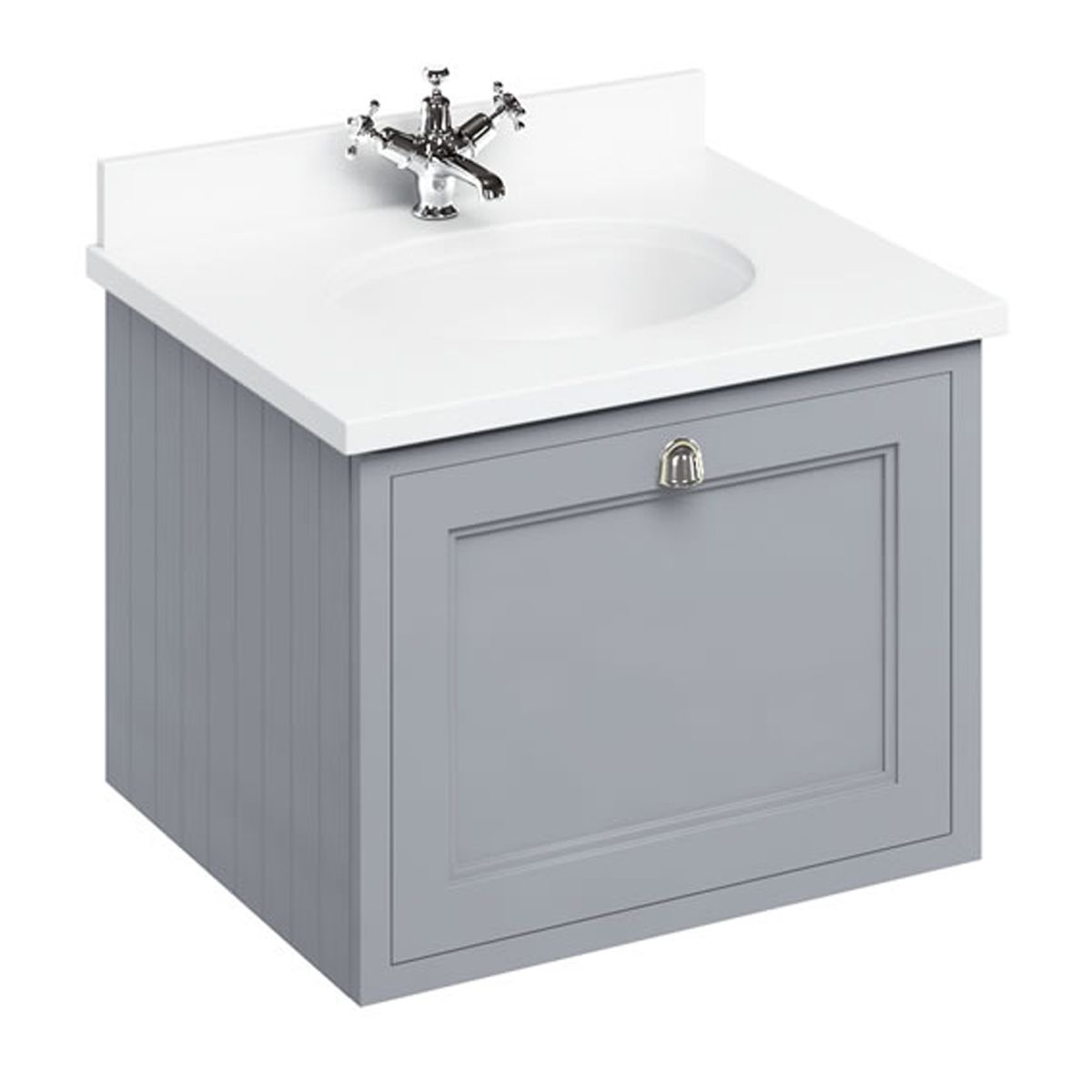 Burlington Classic Grey Wall Hung Drawer Vanity Unit 650mm