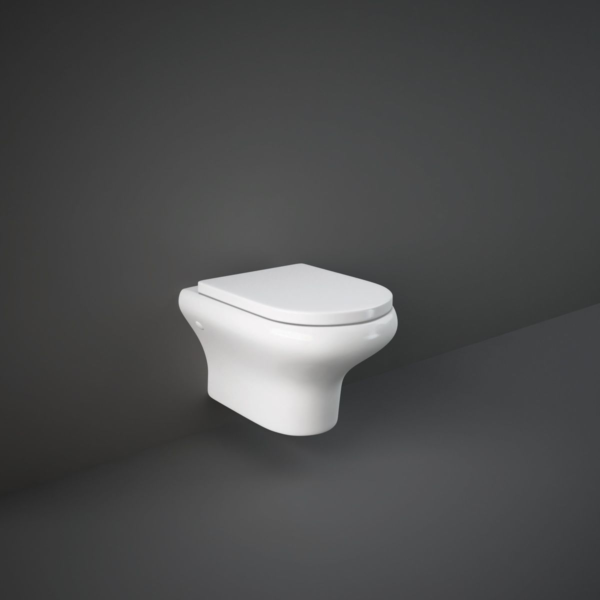 RAK Compact Wall Hung Toilet with Soft Close Seat