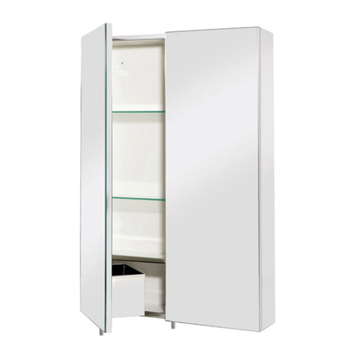 Croydex Colorado Double Stainless Steel Bathroom Cabinet