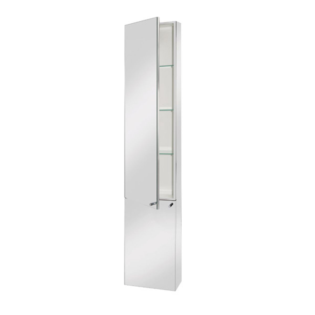 Croydex Nile Tall Stainless Steel Bathroom Cabinet