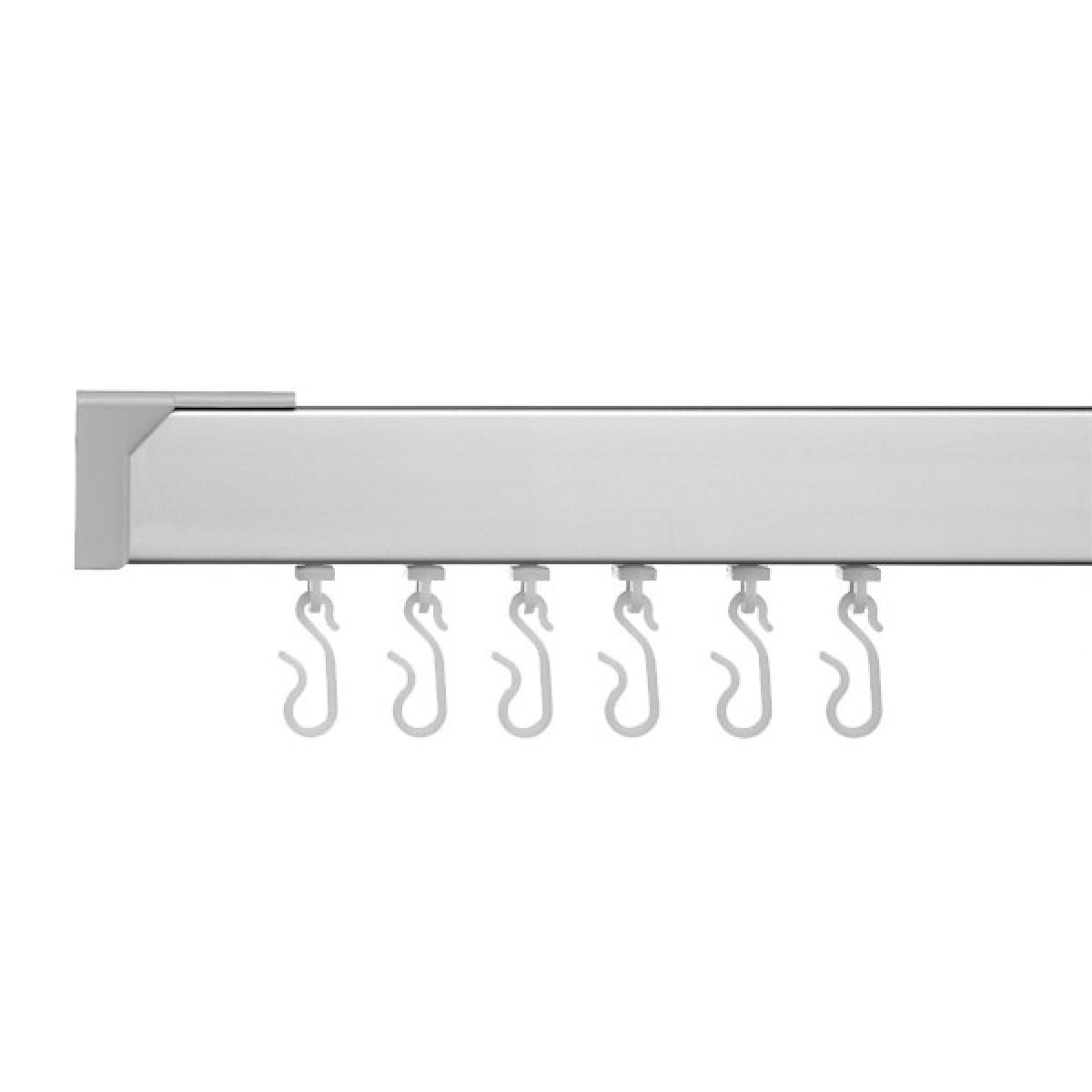 Croydex Profile 400 Angled Silver Shower Curtain Rail