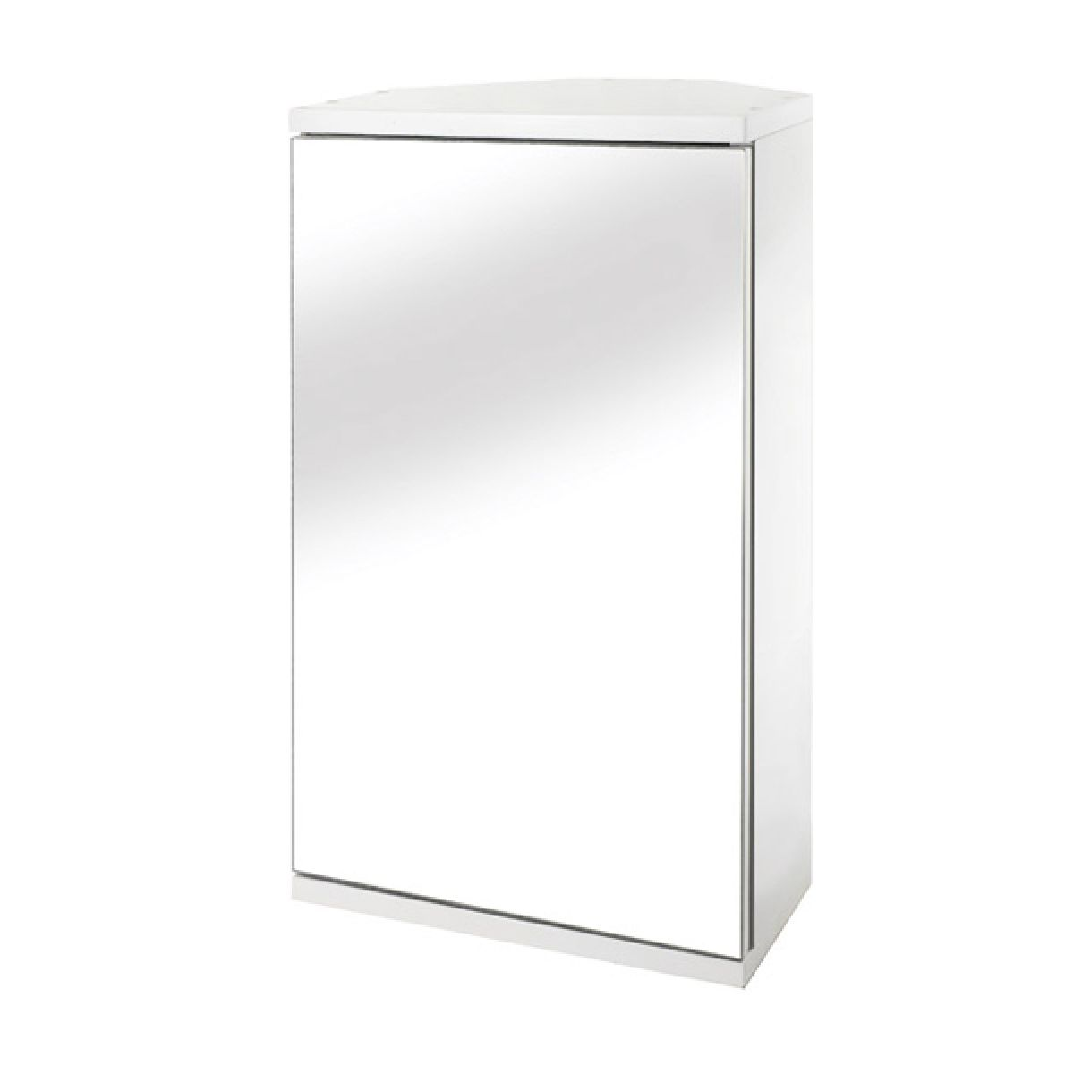 Croydex Simplicity Corner Wooden Mirrored Bathroom Cabinet