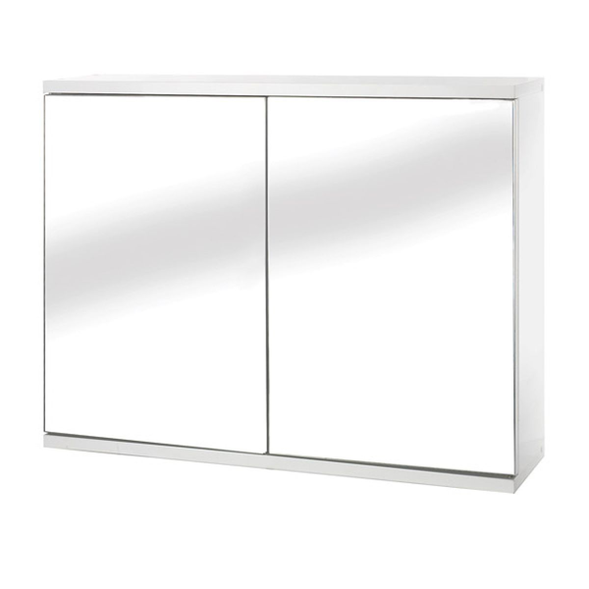 Croydex Simplicity Double Wooden Mirrored Bathroom Cabinet