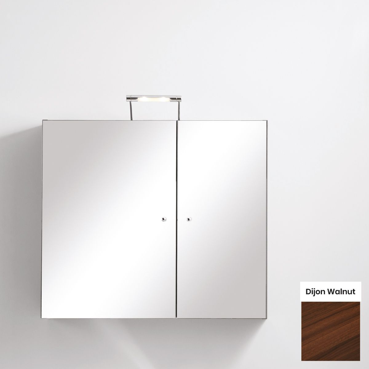 Elation Eko Dijon Walnut Mirror Wall Unit 750mm