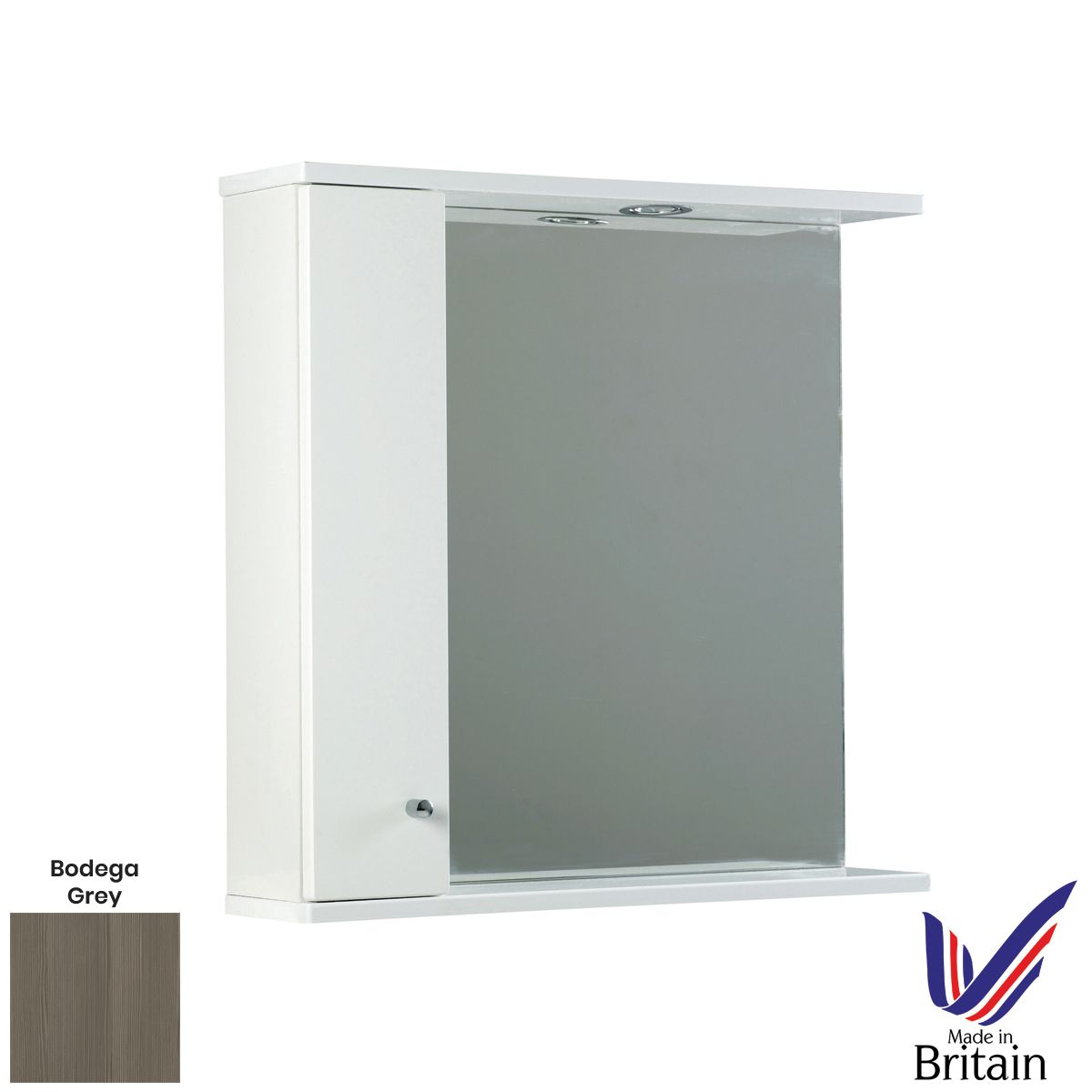 Elation Ikoma Bodega Grey Mirror Unit 750mm