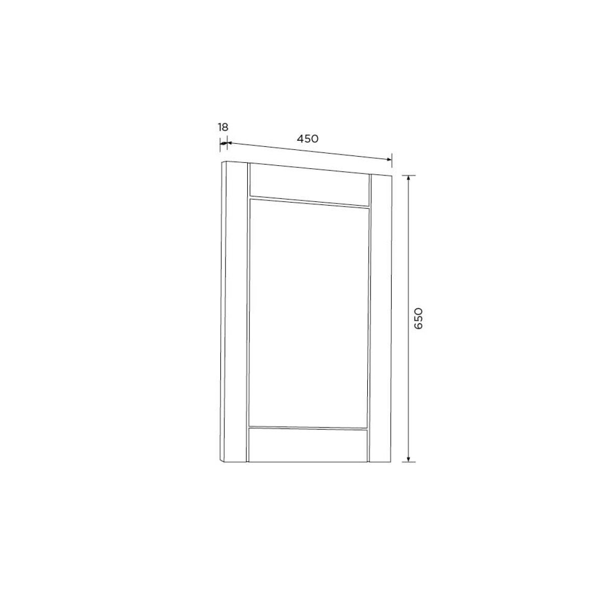 Elation Sendai White Gloss Framed Mirror 450mm Measurements