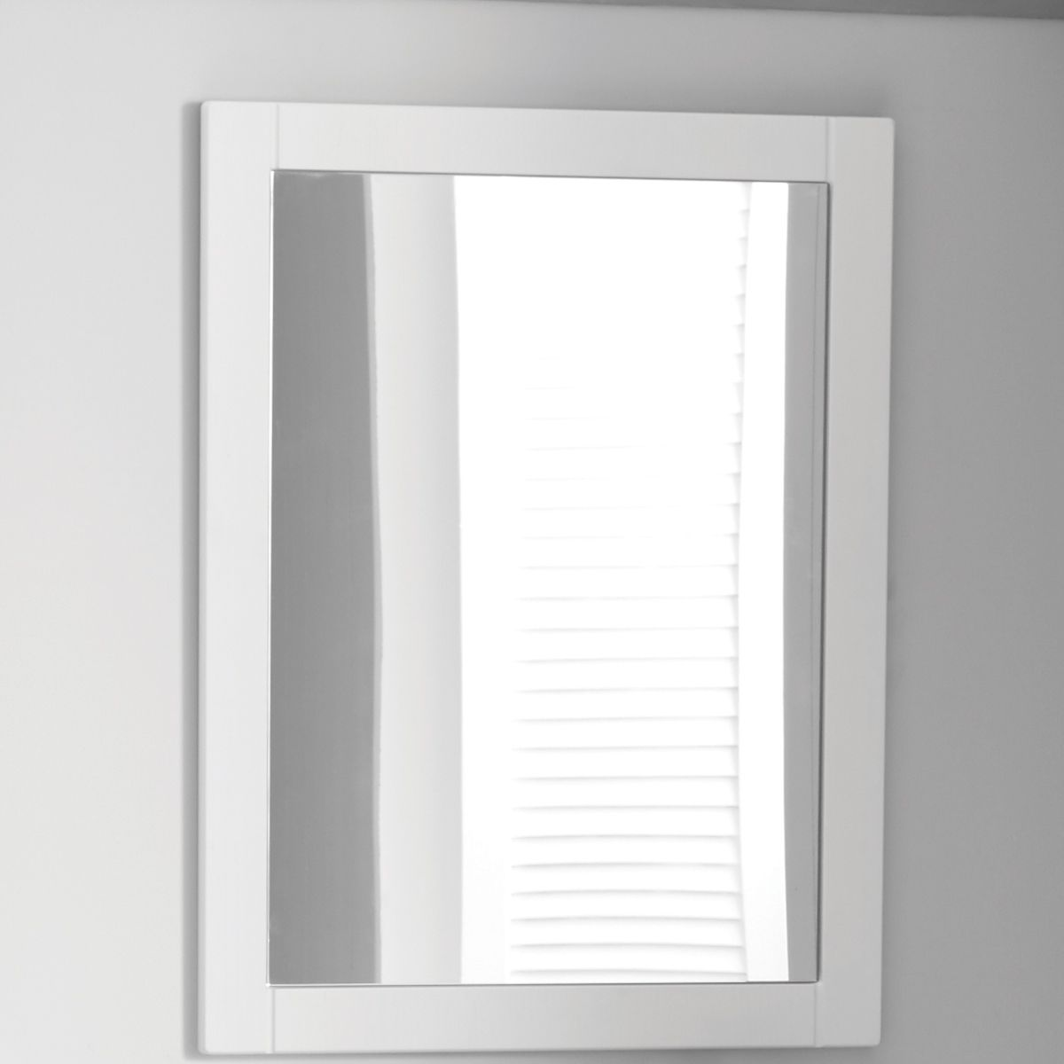 Elation Sendai White Wood Grain Framed Mirror 450mm