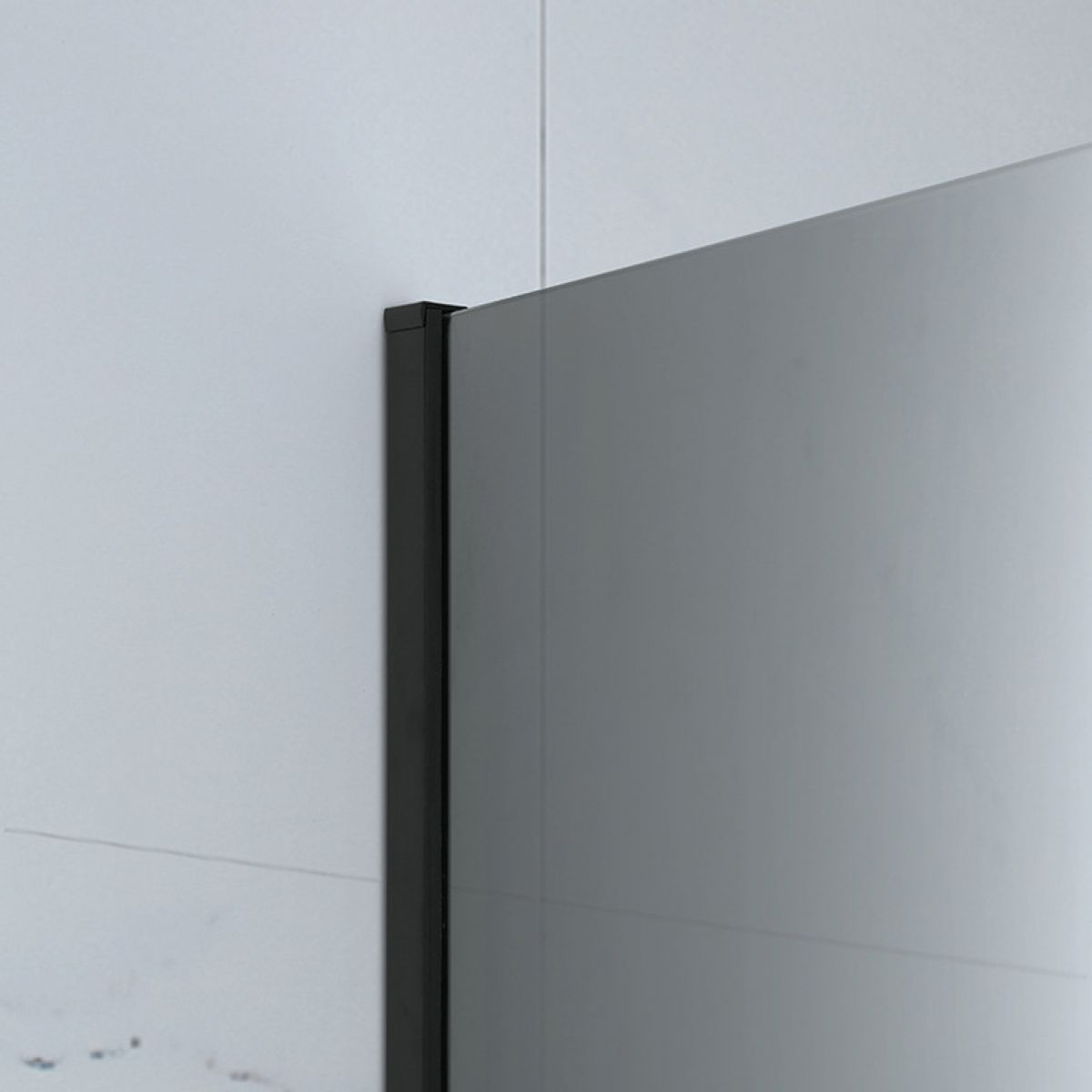 Frontline Aquaglass Mono Black Frosted Shower Screen Wall Profile