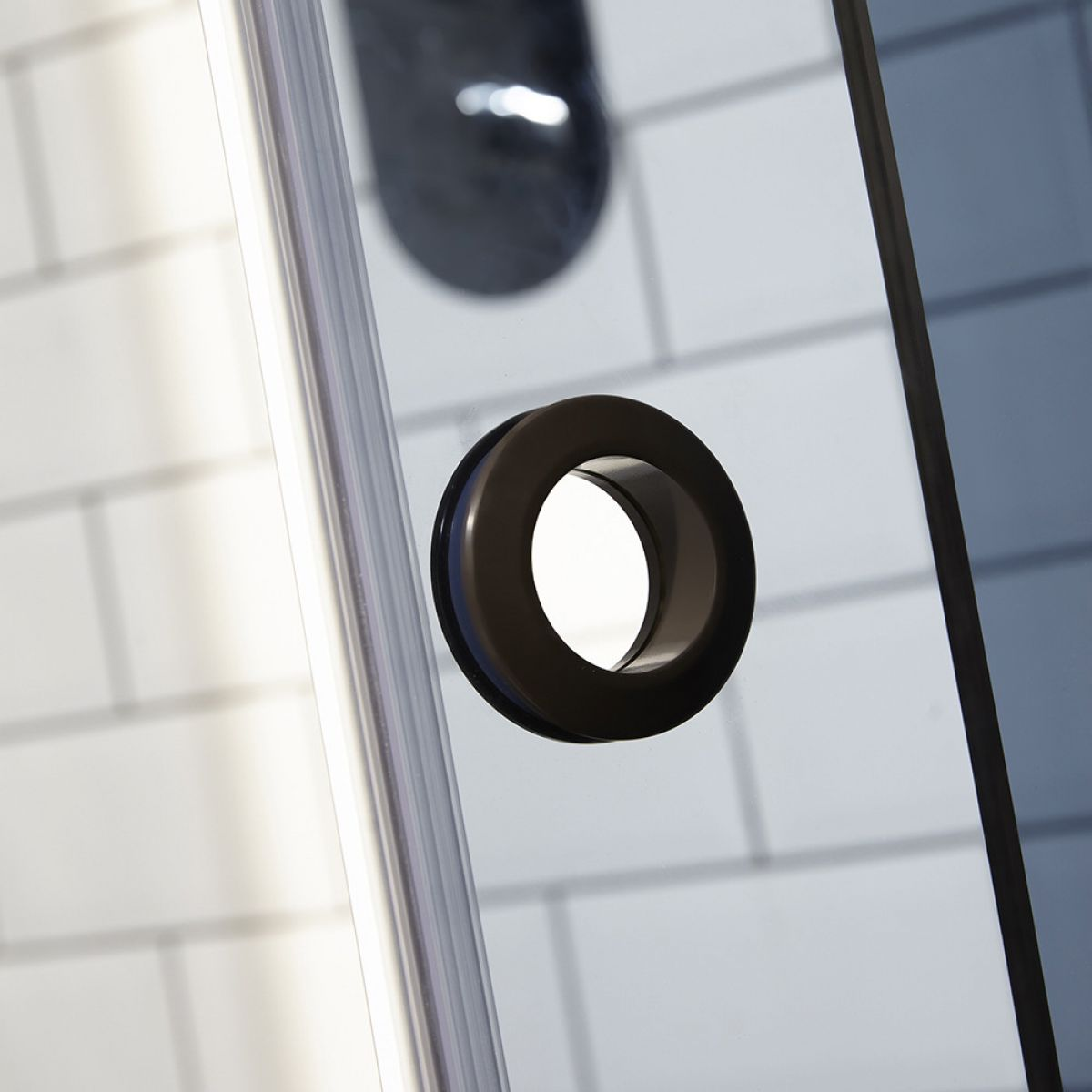 Frontline Aquaglass+ Sphere Black Tinted Quadrant Shower Enclosure Handle