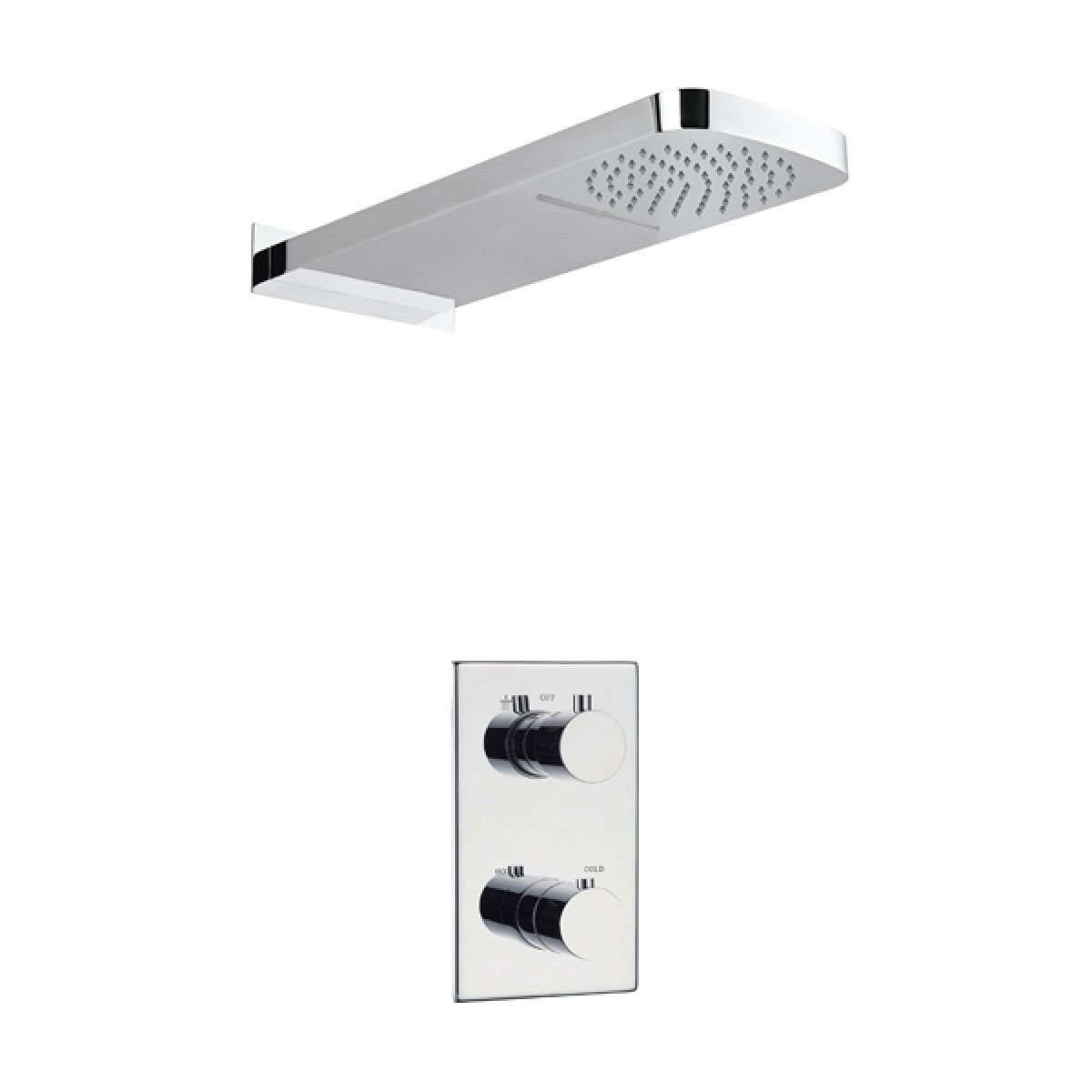 Frontline Slyde Triple Thermostatic Mixer Shower with Losan Head
