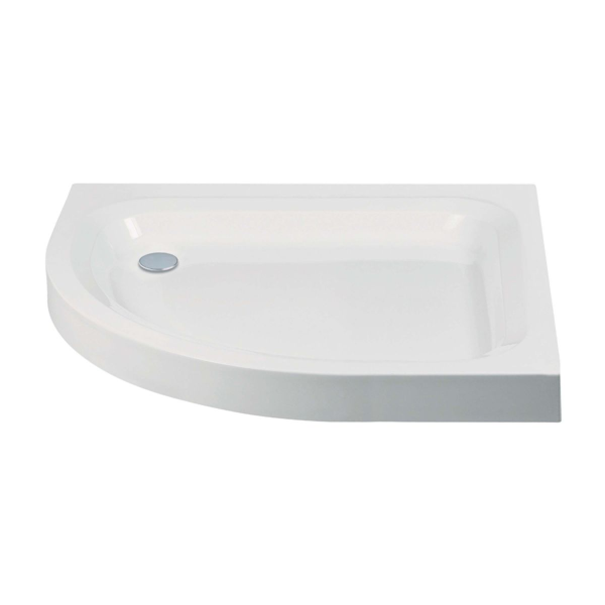 Frontline Standard Offset Quadrant Shower Tray 1200 x 800mm Left Handed