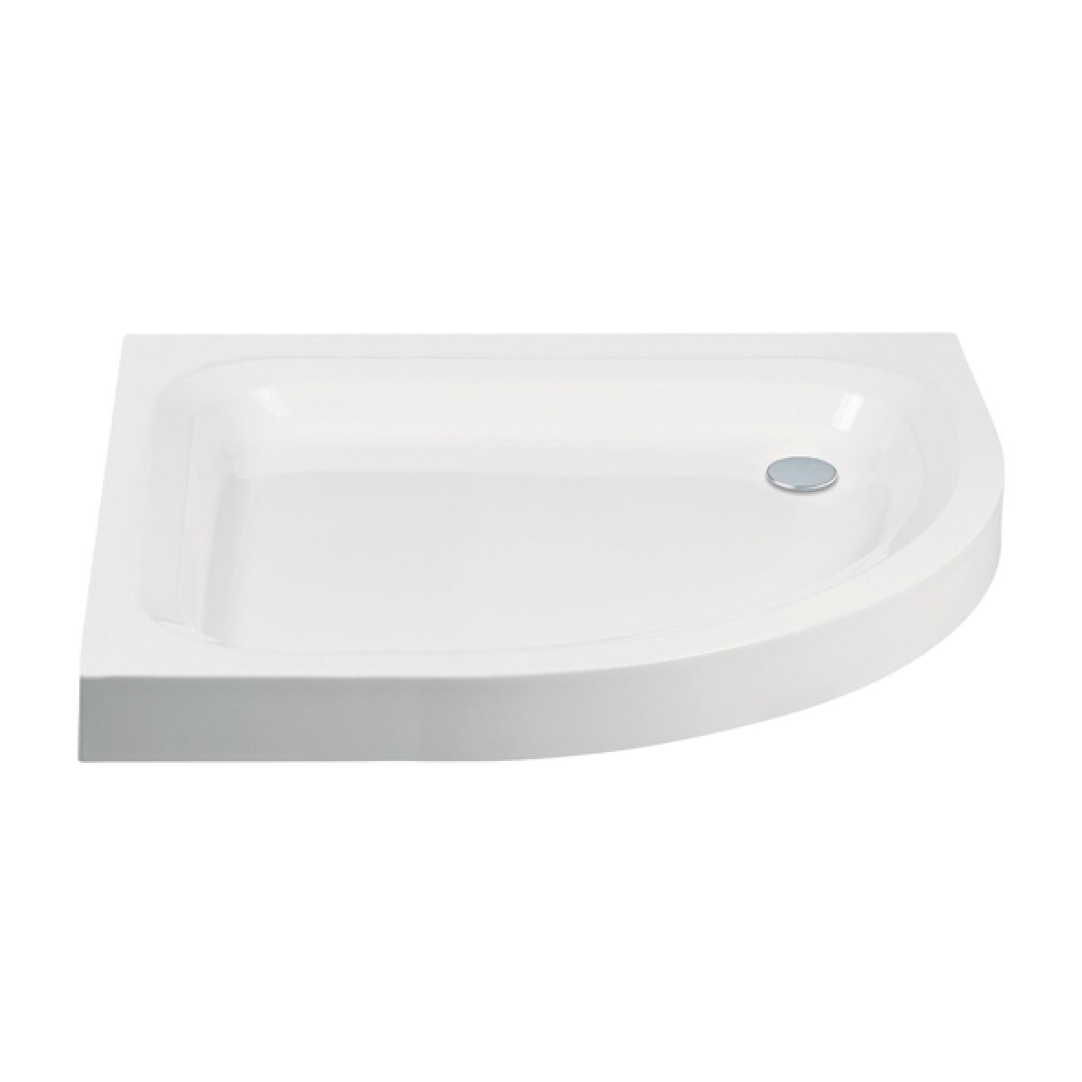 Frontline Standard Offset Quadrant Shower Tray 900 x 760mm Right Handed