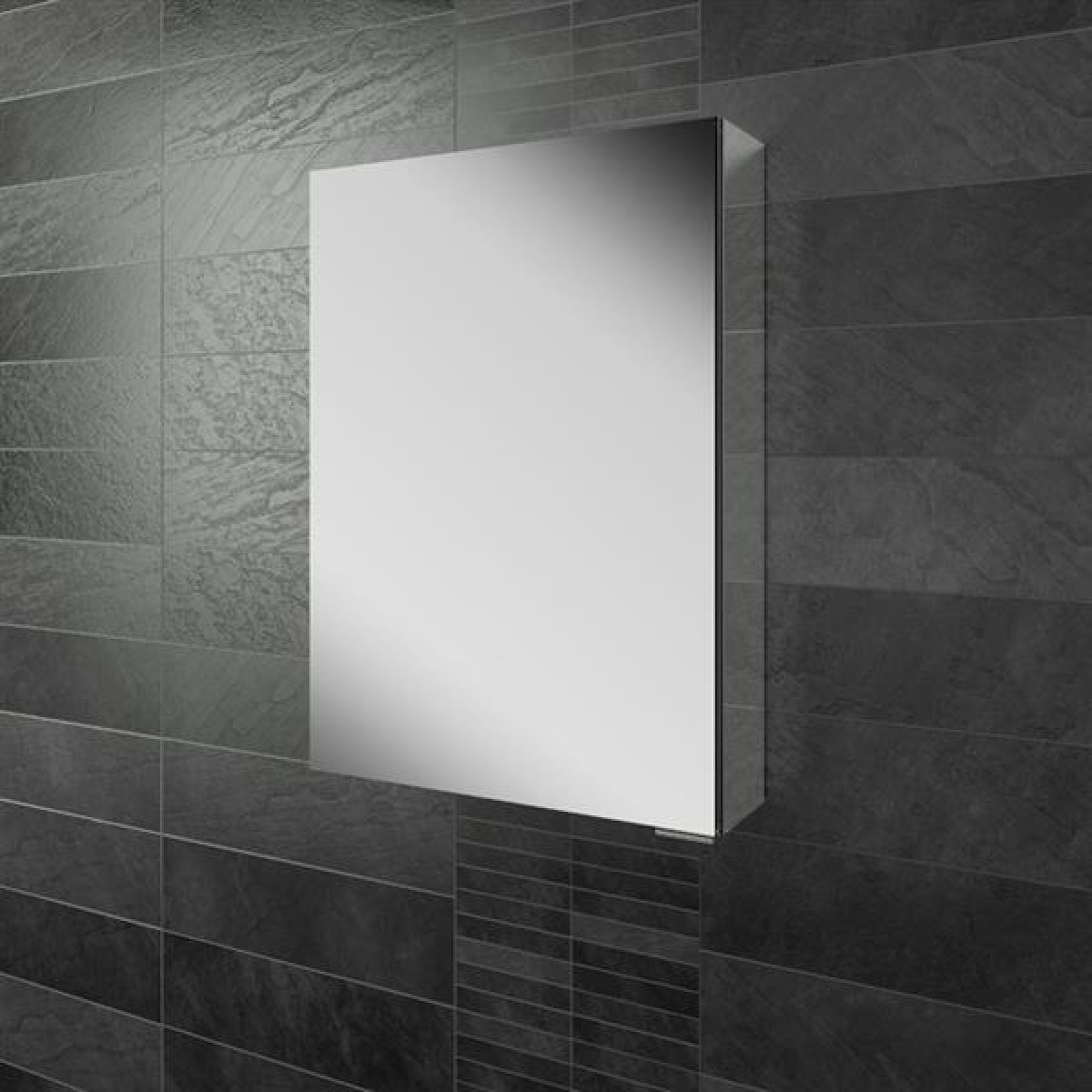 HiB Eris 50 Single Door Mirrored Cabinet