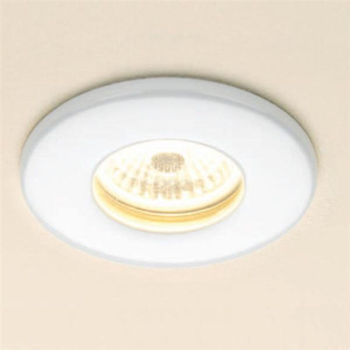 HiB Warm White LED Round White Shower Light