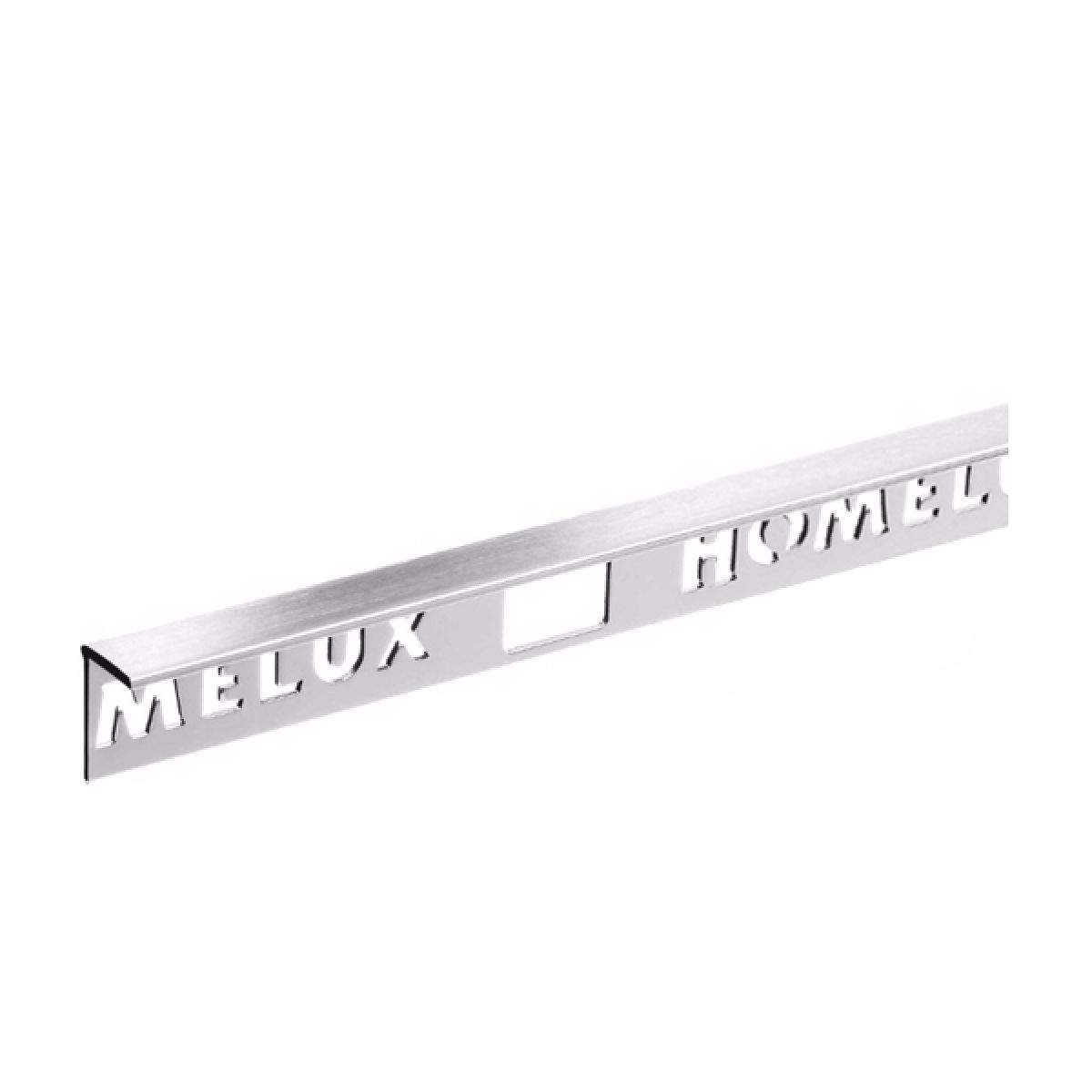 Homelux Aluminium Straight Edge 8mm Stainless Steel Tile Trim 2.5m
