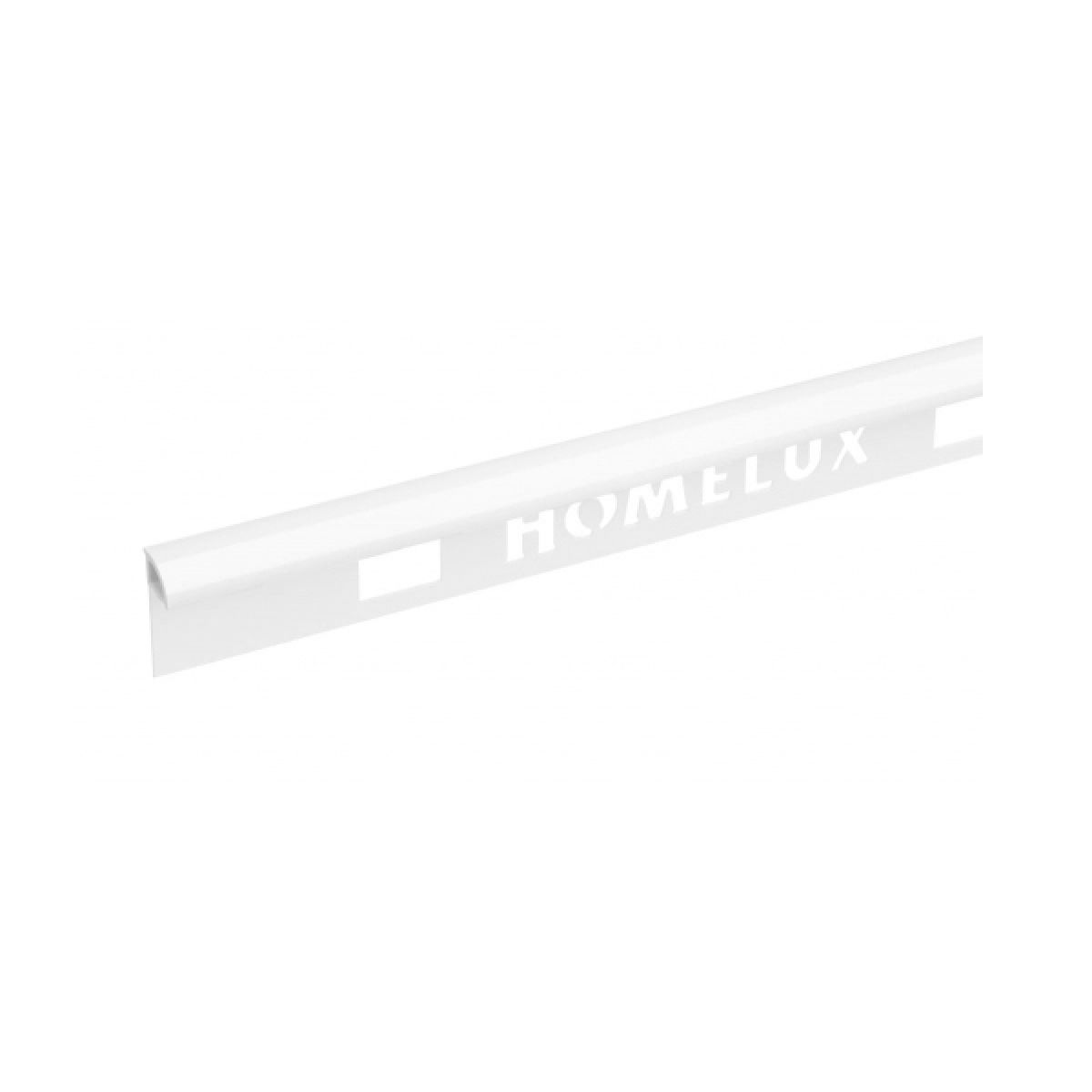 Homelux PVC Quadrant Edge 8mm Gloss White Tile Trim 2.44m