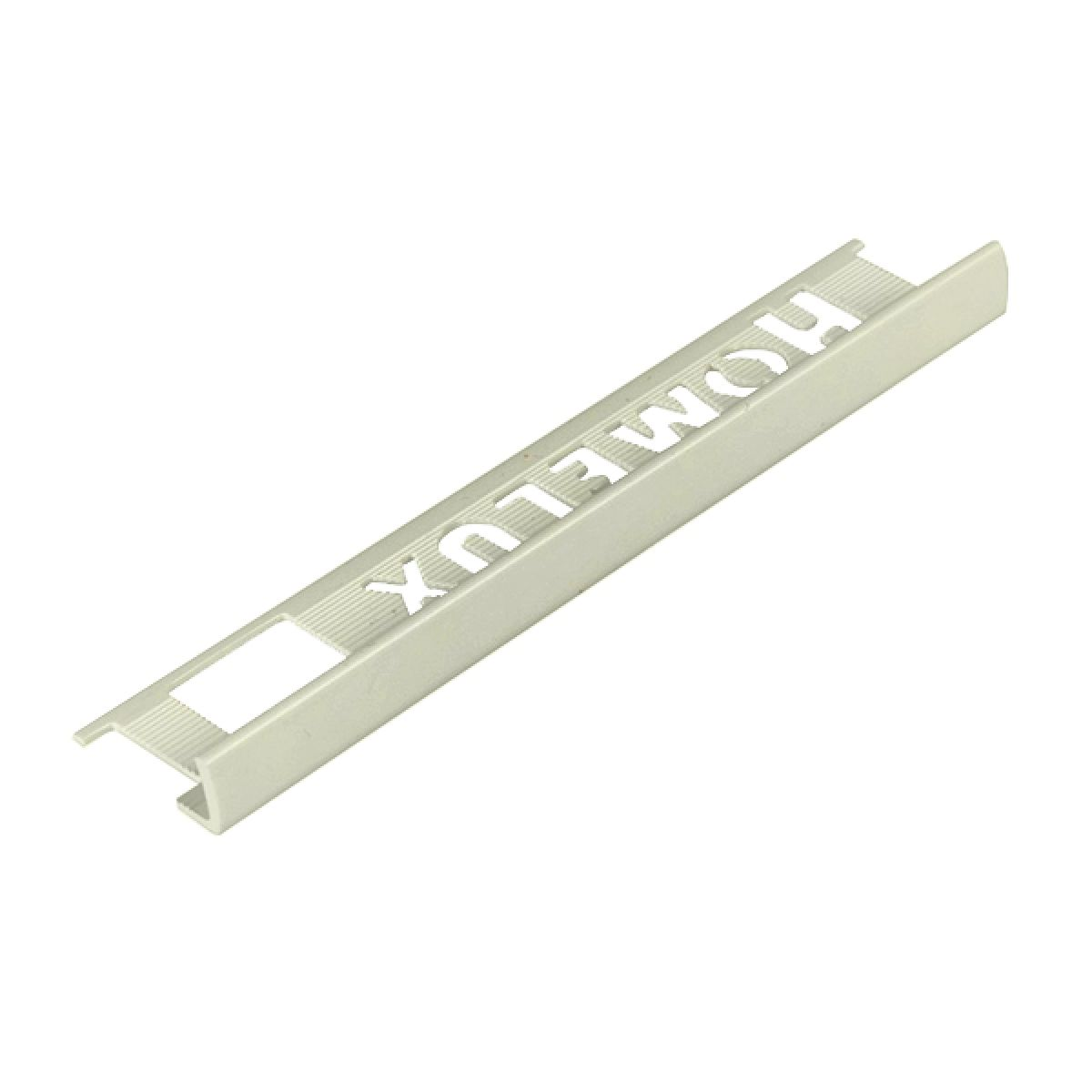 Homelux PVC Straight Edge 6mm Soft Cream Tile Trim 2.5m